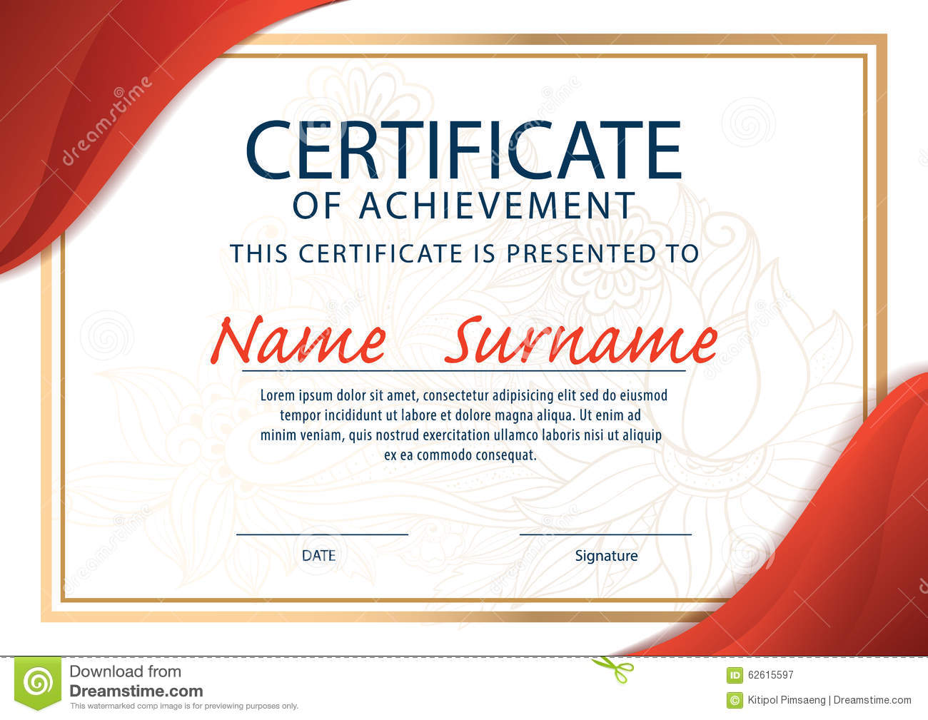 Certificate Template,diploma ,a4 Size ,vector Illustration ...