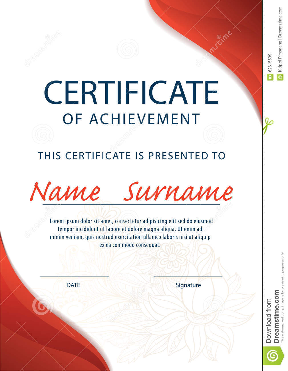 Certificate Template,diploma ,A4 Size ,vector  Certificate Layout