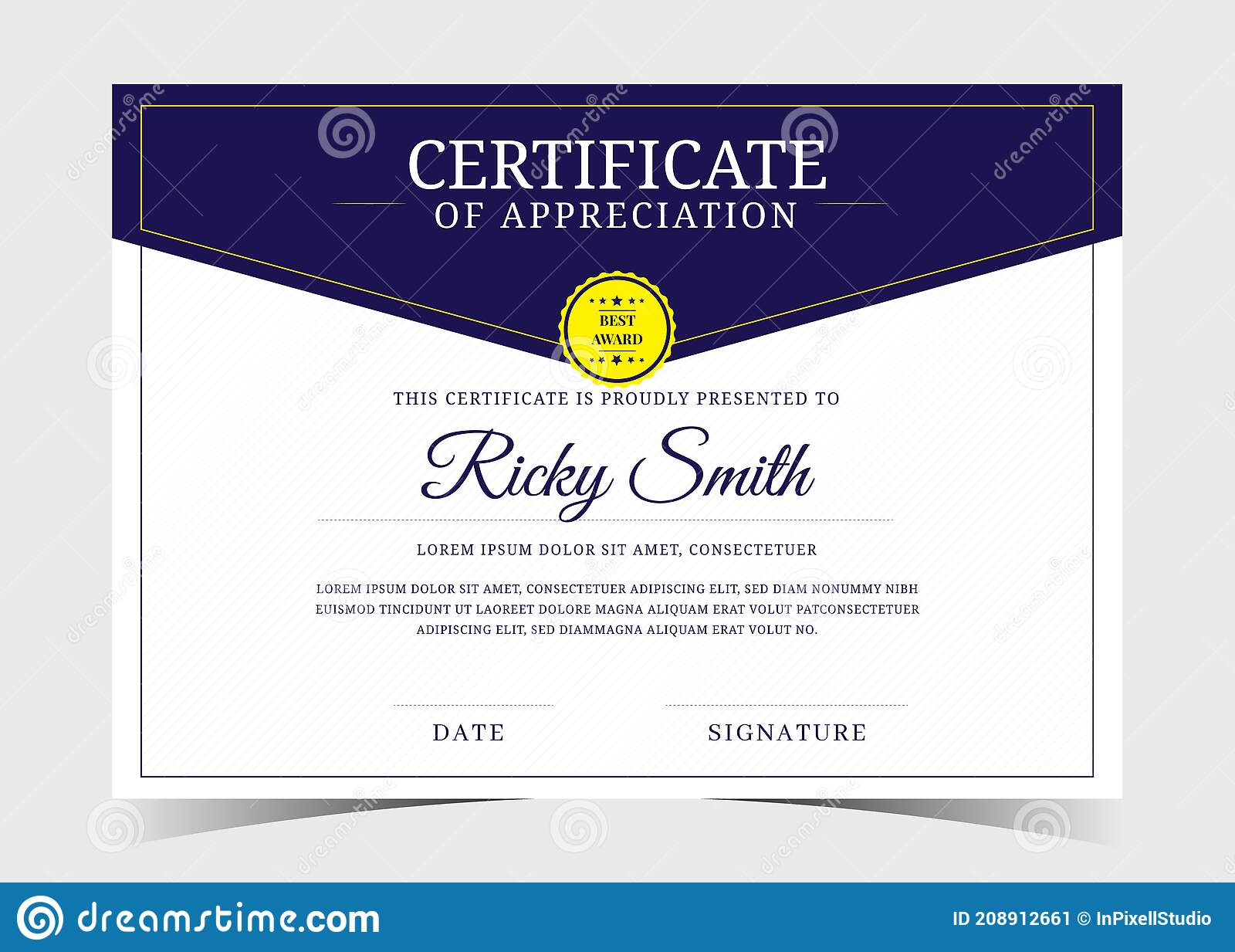 Certificate Template In Elegant Black Colours. Certificate Of Pertaining To Professional Award Certificate Template