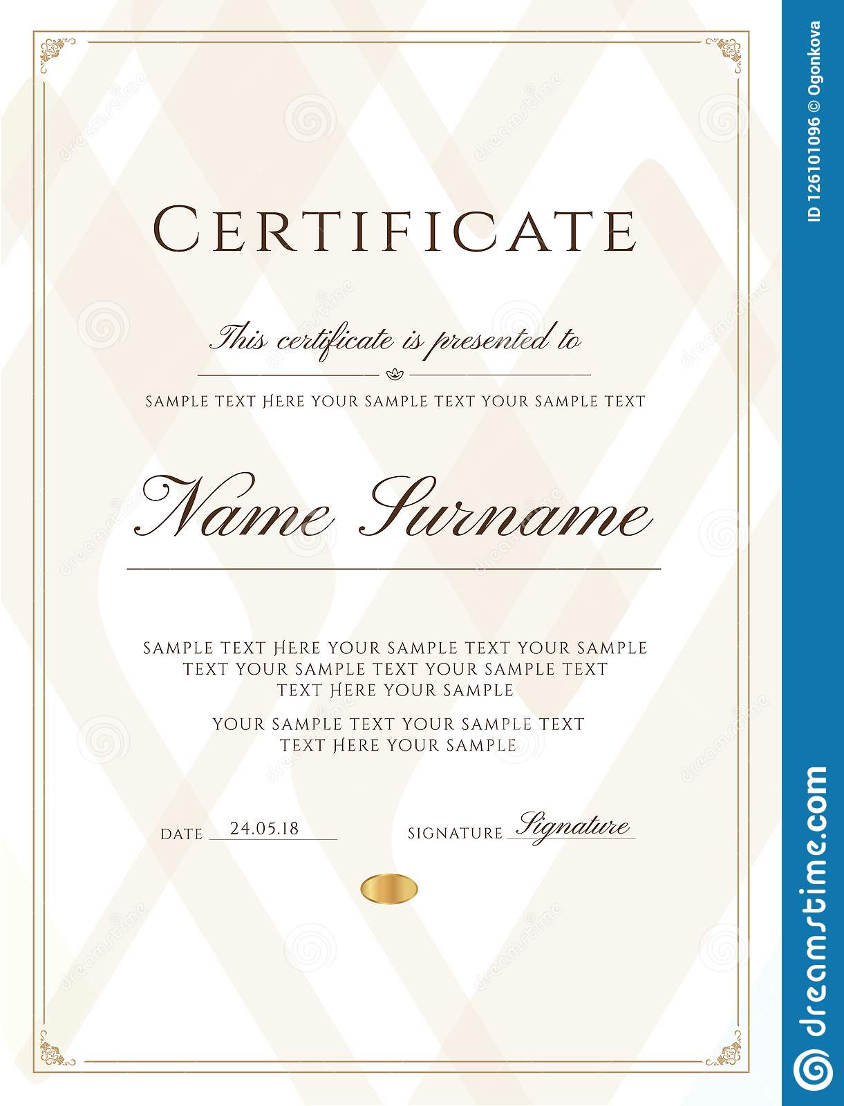 Certificate template with frame border and pattern design for download certificate template with frame border and pattern design for diploma certificate of achievement maxwellsz
