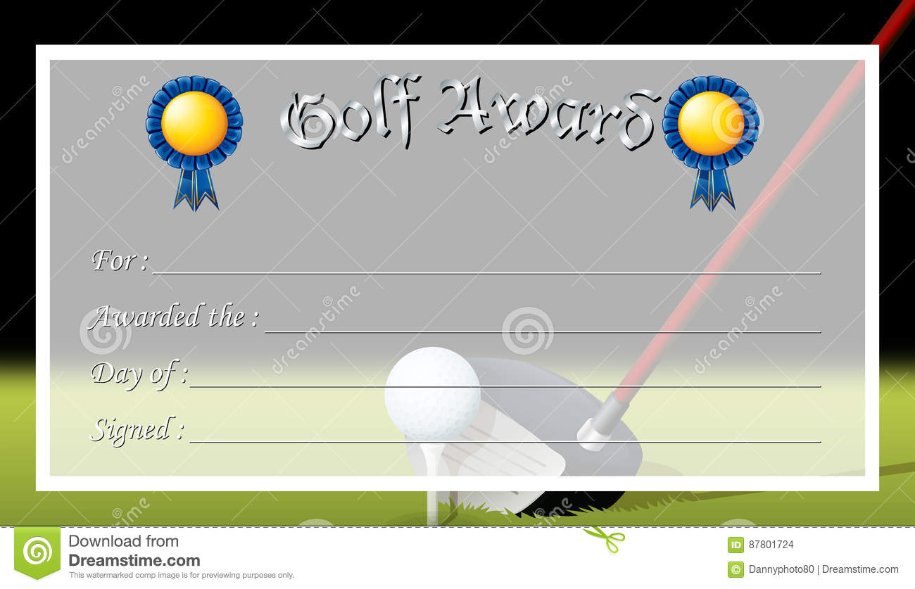 Free golf award certificate templates images certificate design certificate template for golf award stock vector illustration of certificate template for golf award royalty free alramifo Choice Image