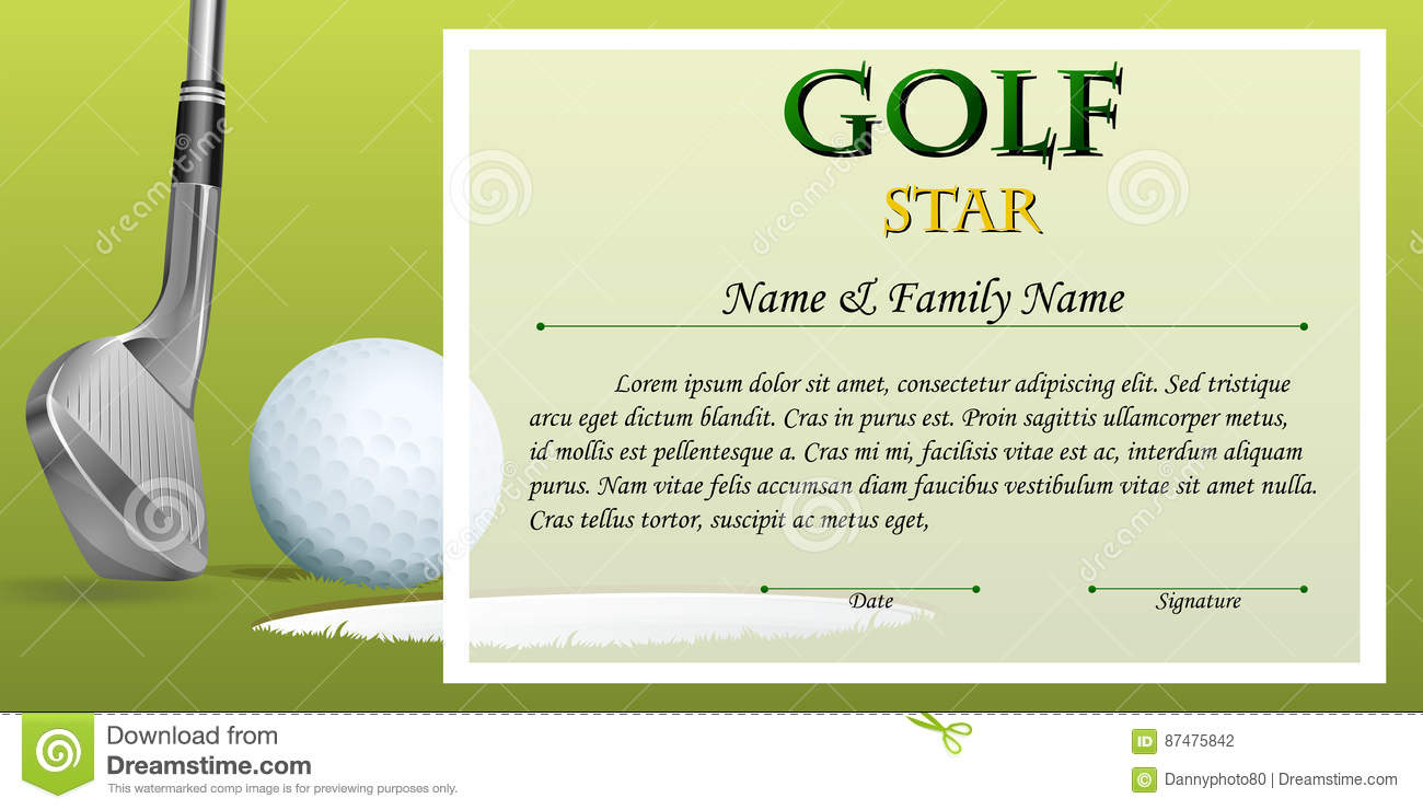Star certificate template image collections templates example certificate template for golf star with green background stock certificate template for golf star with green alramifo Choice Image