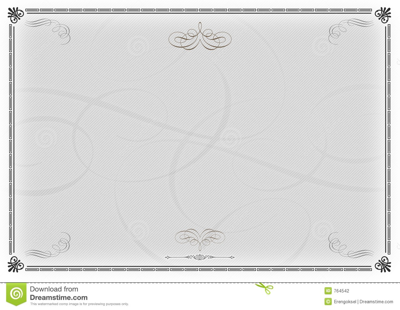 Certificate Template Gray V2 Stock Photography - Image: 764542