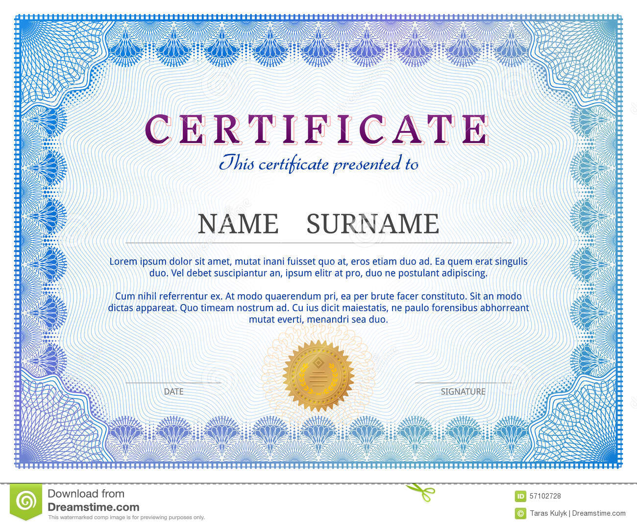 Validation Certificate Template