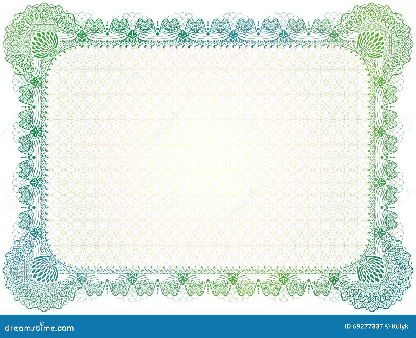 Green certificate border template carlosdelarosavidal birth certificate template for girl green certificate border template 1betcityfo Image collections