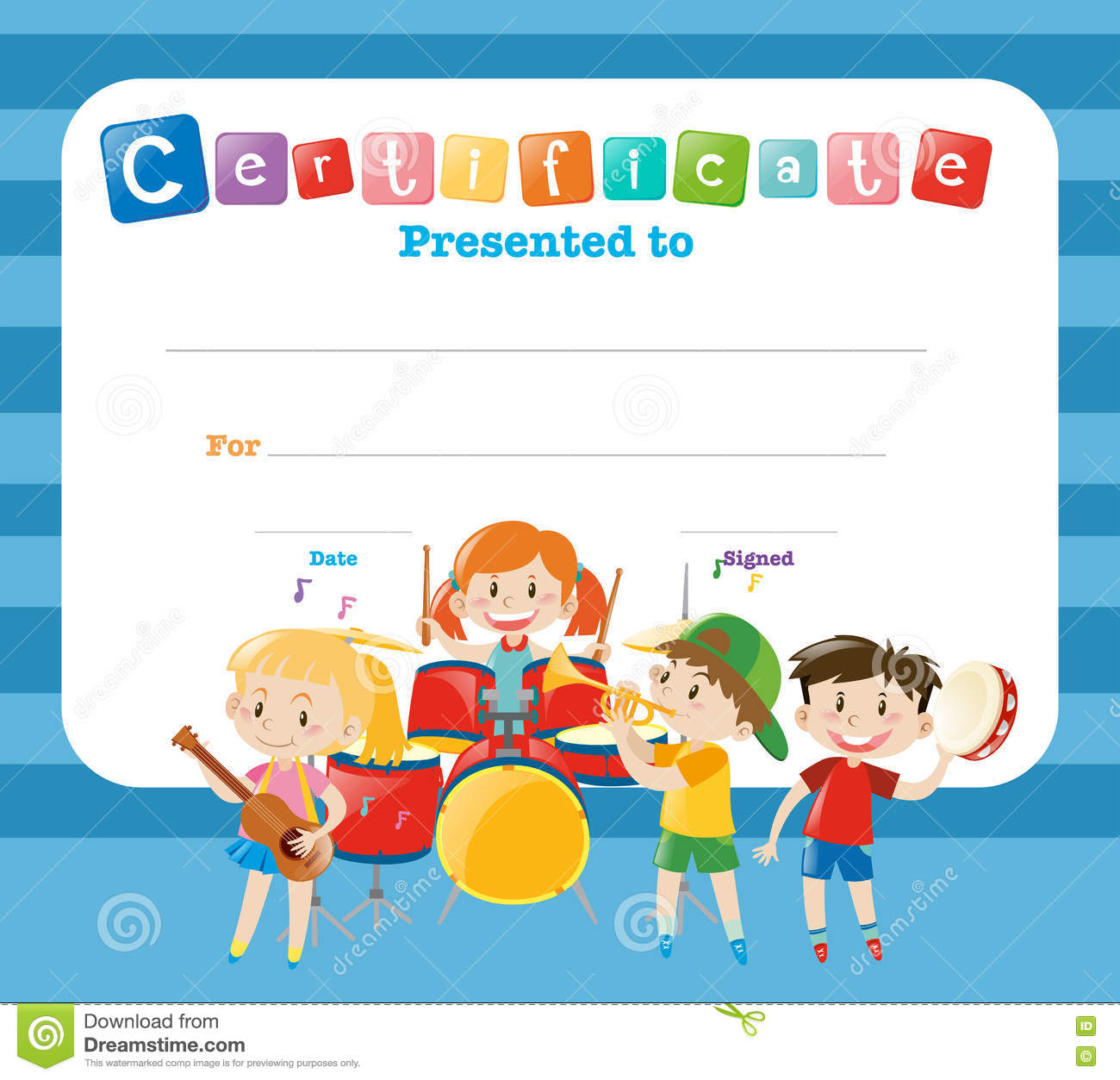Doc564435 Certificate Template for Kids Certificate Template – Certificate Template for Kids