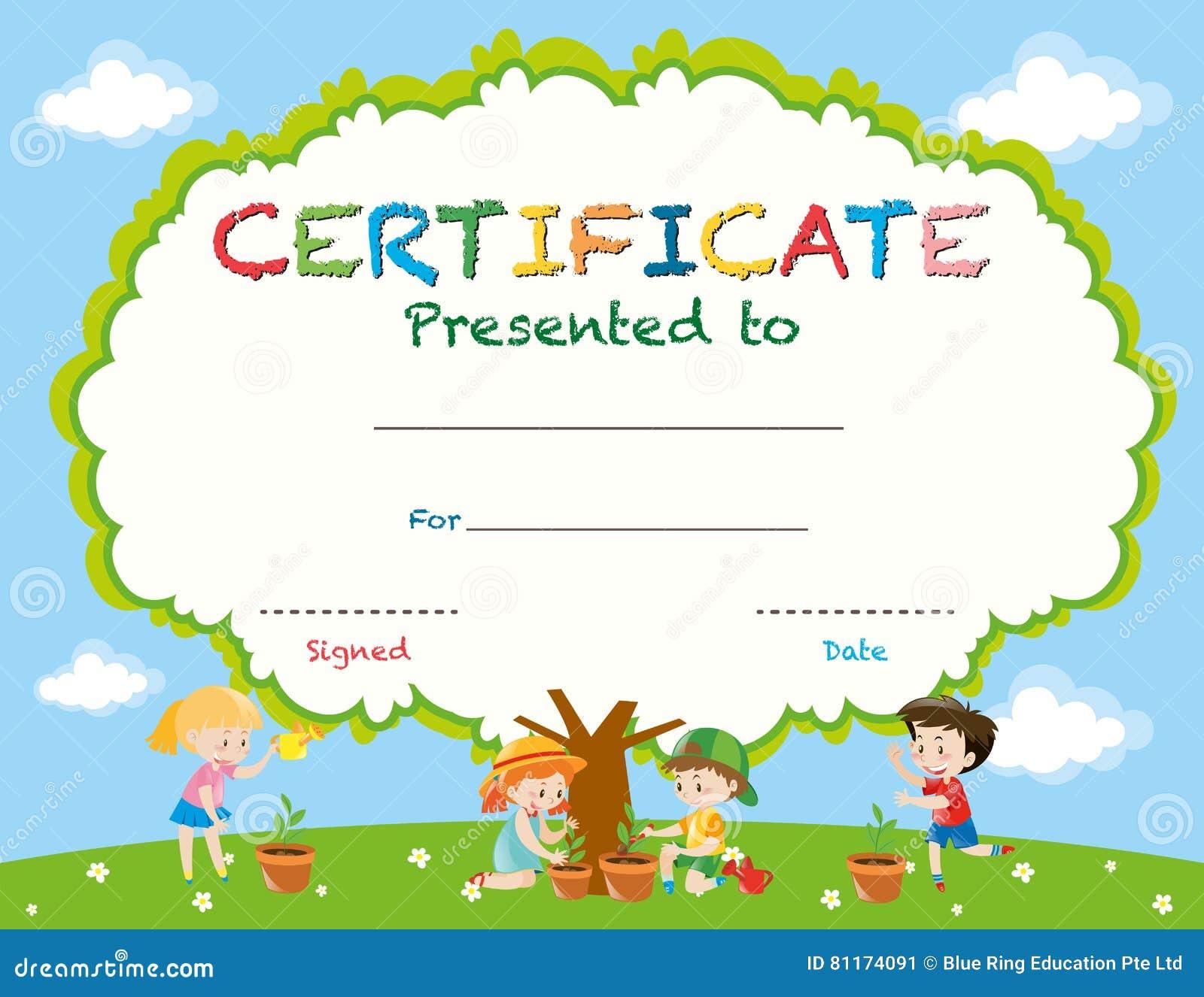 Kids certificate template datariouruguay preschool graduation certificate template free yelopaper Choice Image
