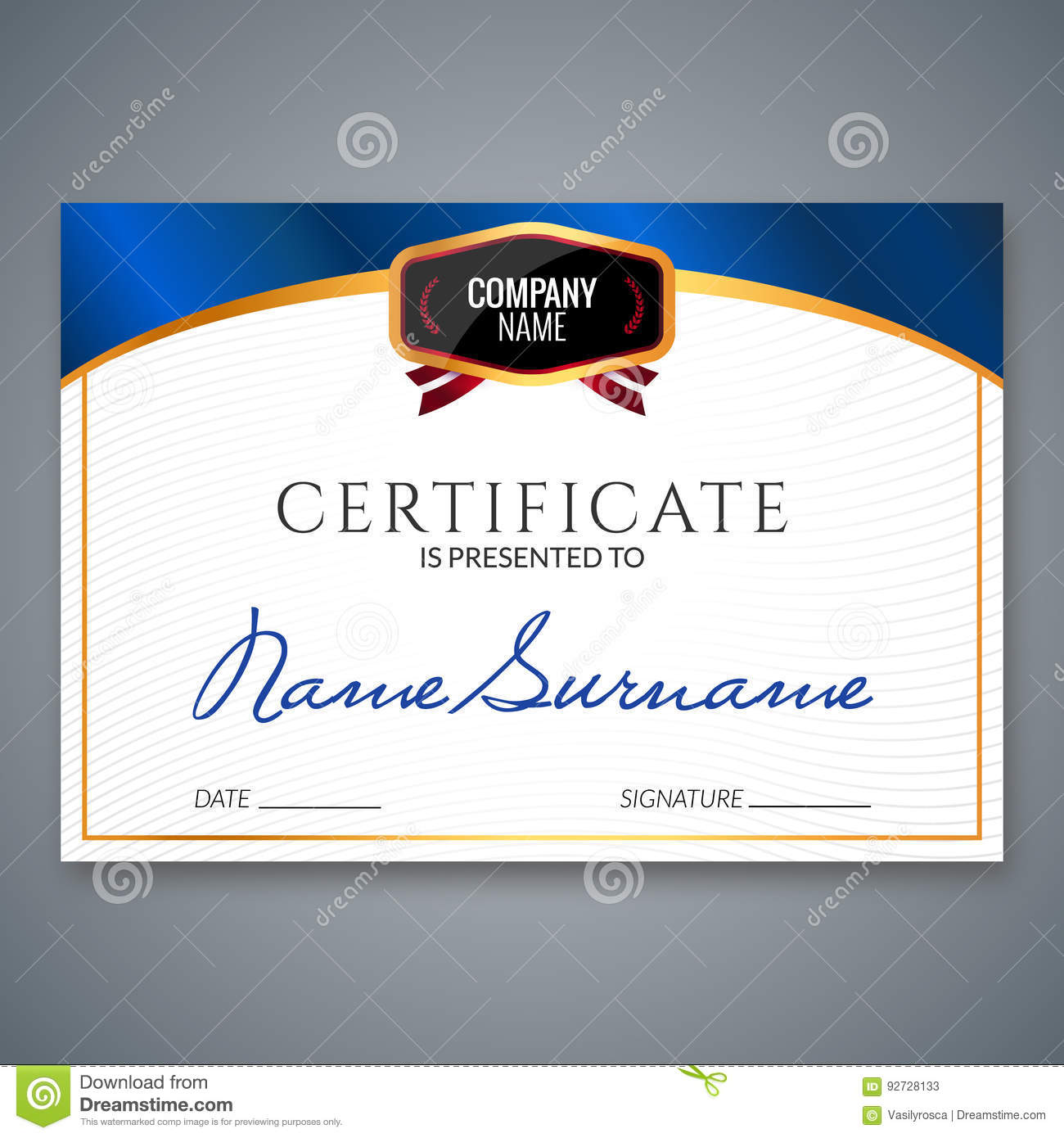 Certificate template luxury award vector business diploma with seal download certificate template luxury award vector business diploma with seal stamp gift coupon or cheaphphosting