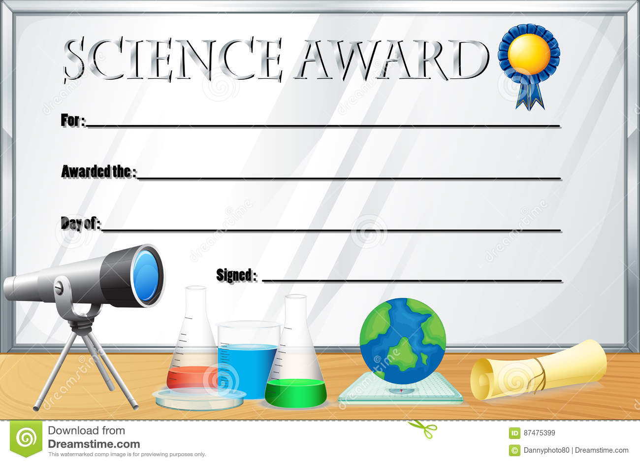 Science certificate templates northurthwall science certificate templates yadclub Gallery