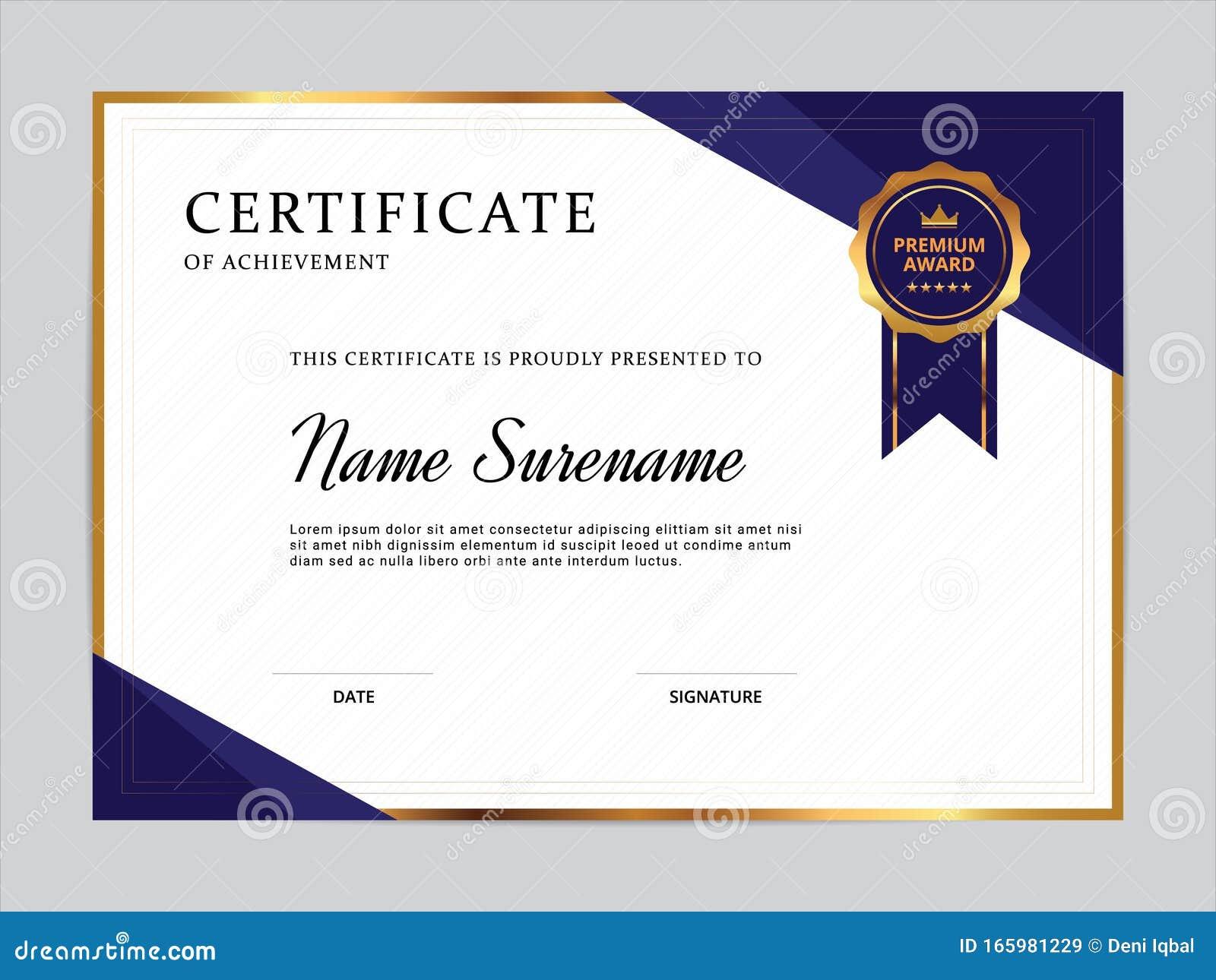 Certificate Of Appreciation Template Design Stock Vector Illustration Of Performance Template 165981229