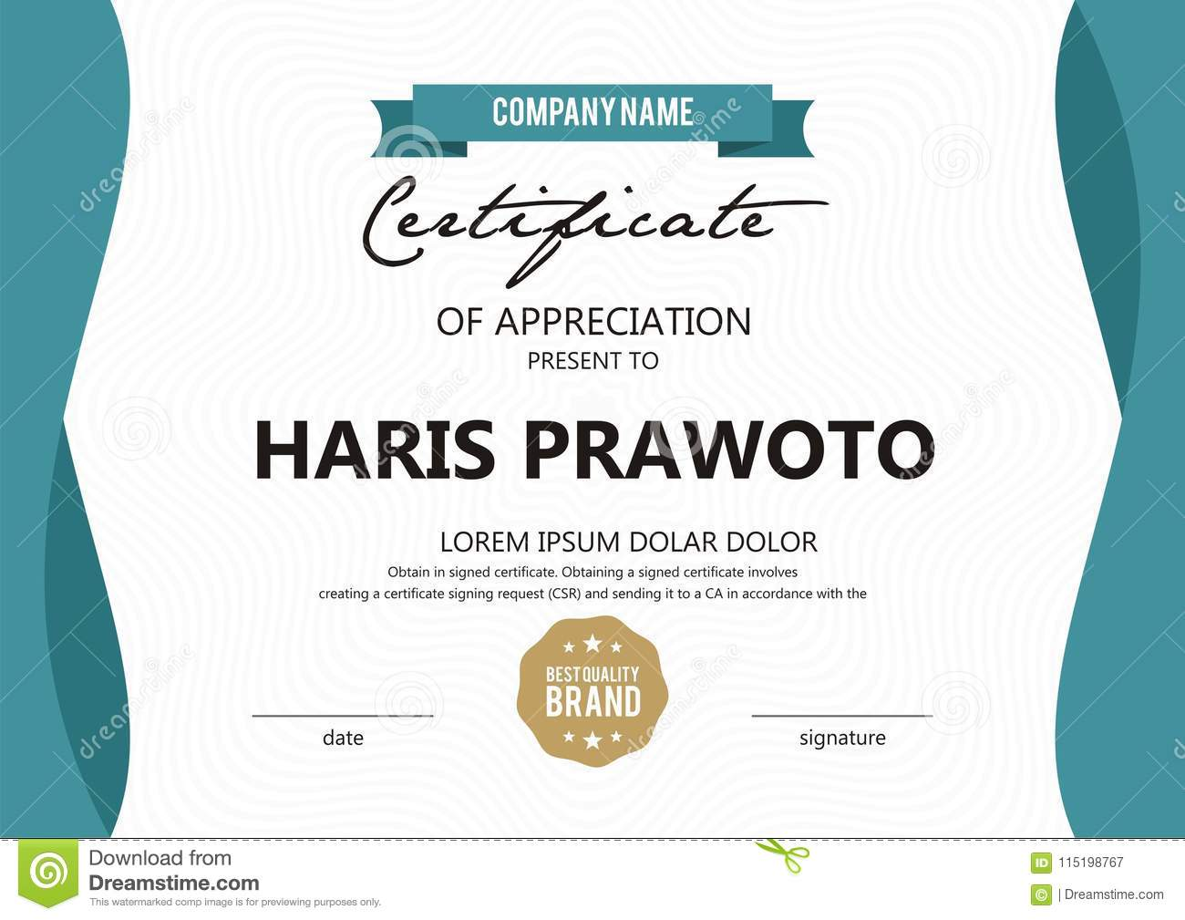 Certificate Template Suitable For Your Company Improve