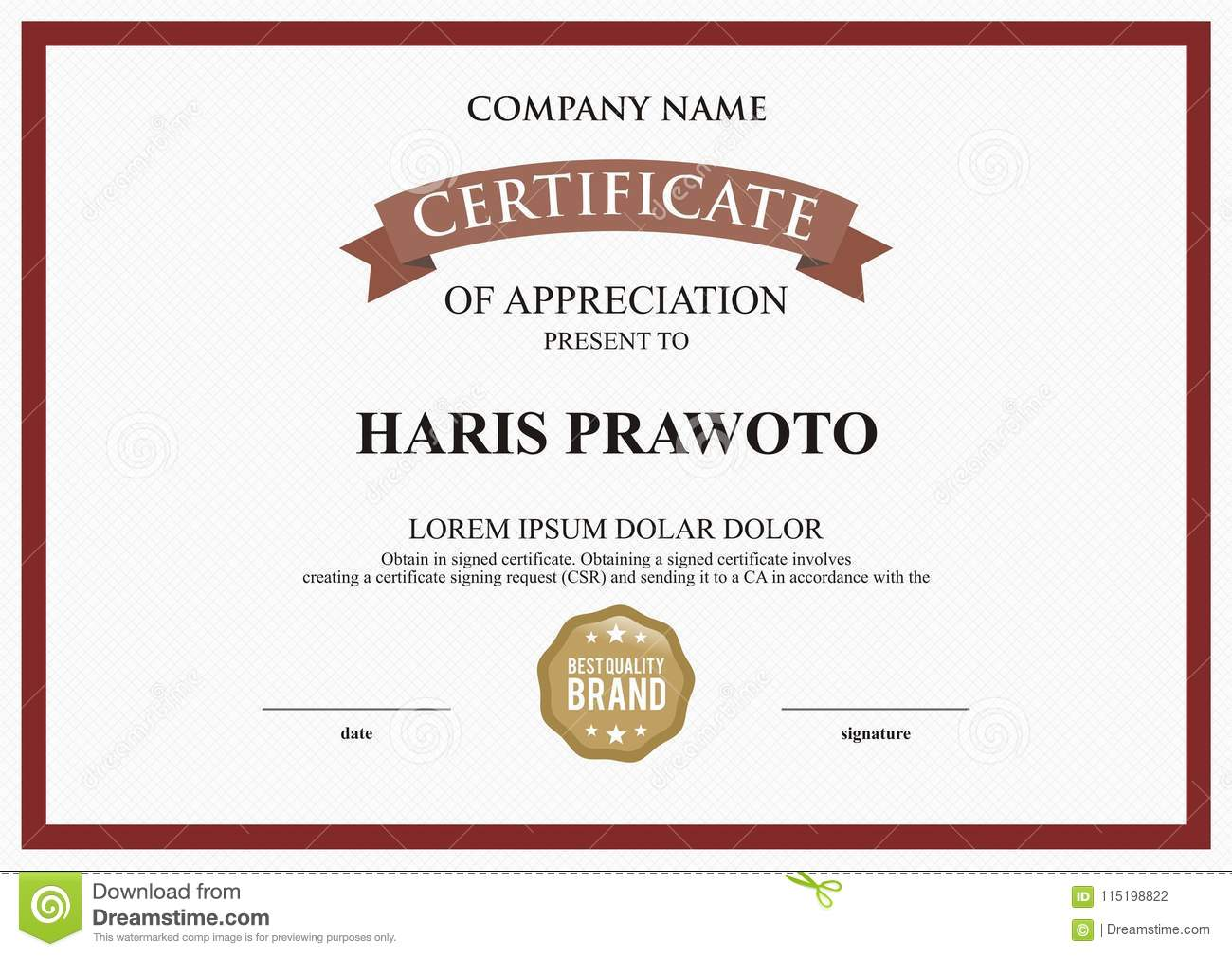 certificate template suitable for your company improve your