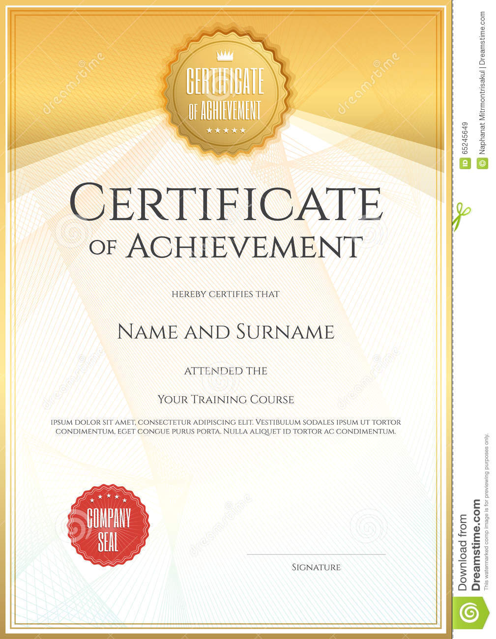 Certificate template in vector for achievement graduation comple certificate template in vector for achievement graduation comple yadclub Choice Image