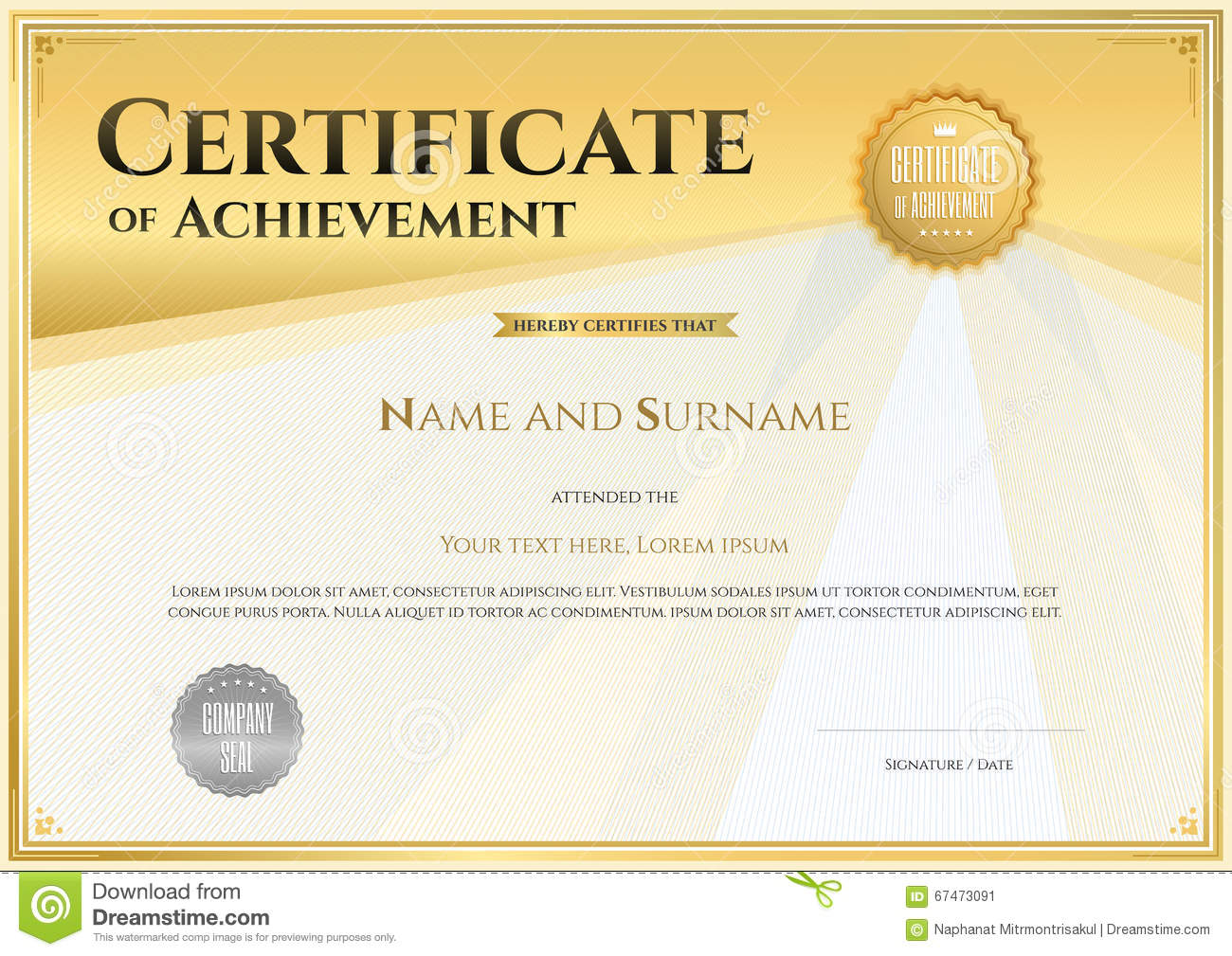 Certificate template in vector for achievement graduation comple certificate template in vector for achievement graduation comple xflitez Gallery