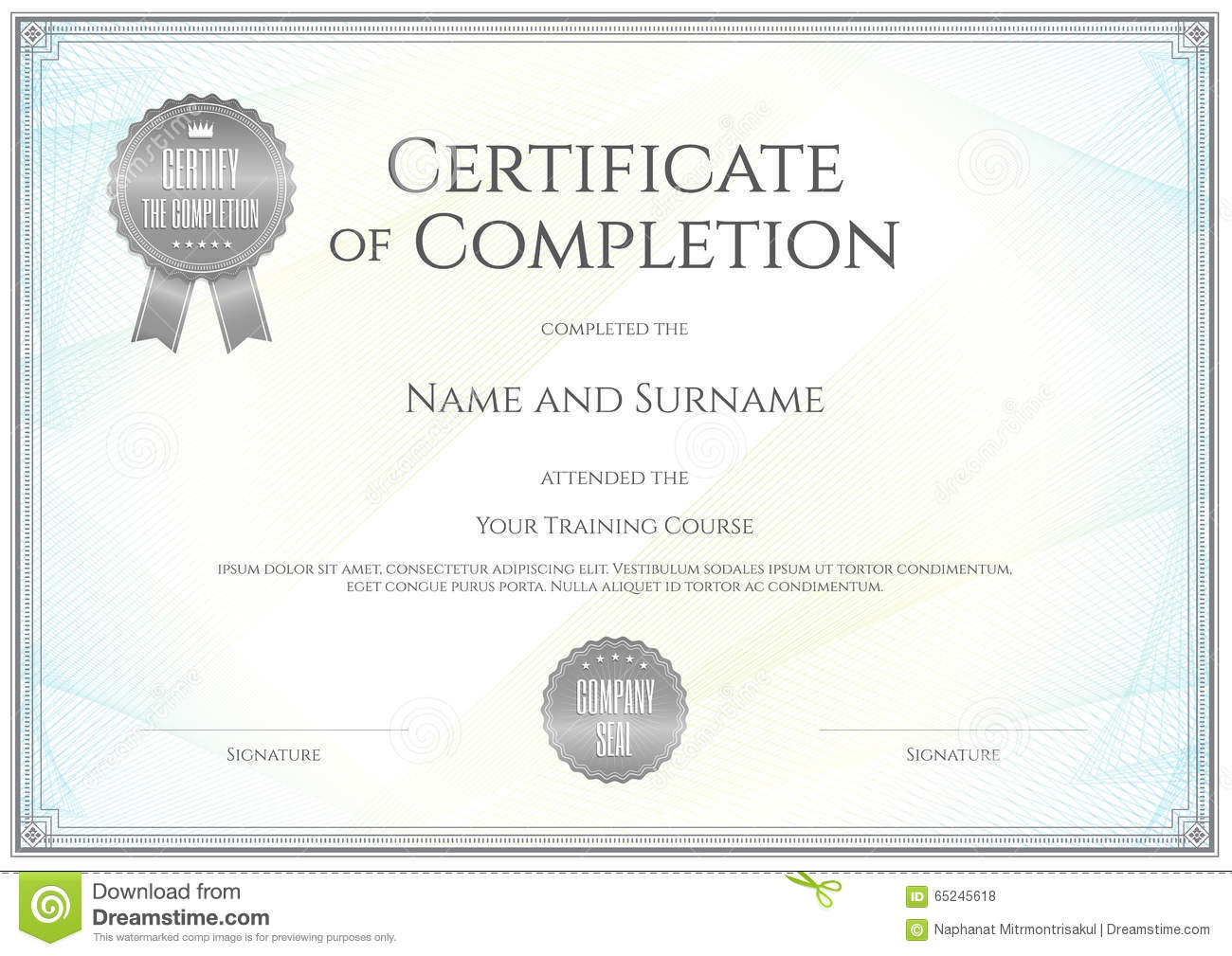 Certificate template in vector for achievement graduation comple certificate template in vector for achievement graduation comple alramifo Choice Image