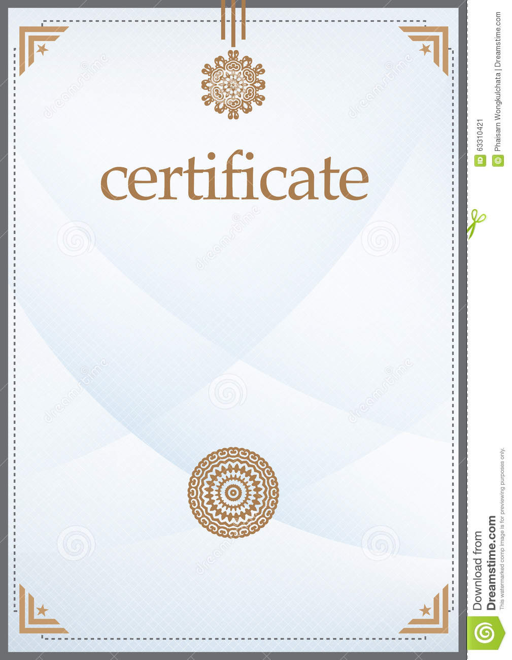 illustrator certificate template 28 images gold