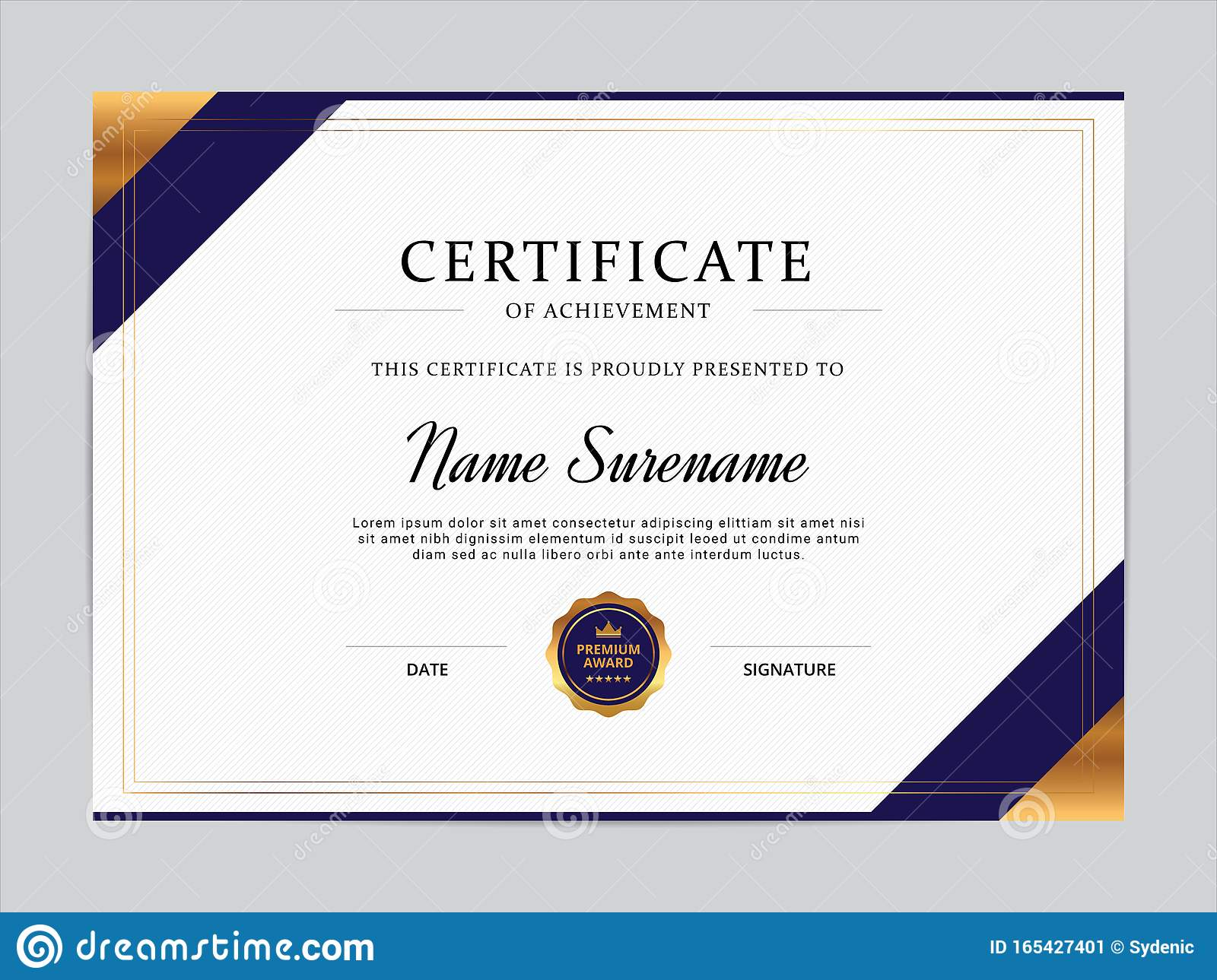 Training Certification Template from thumbs.dreamstime.com