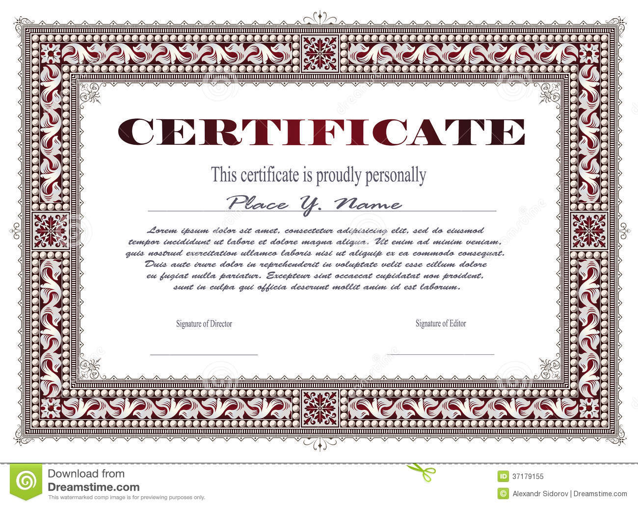 Certificate template stock vector illustration of blank for Tefl certificate template