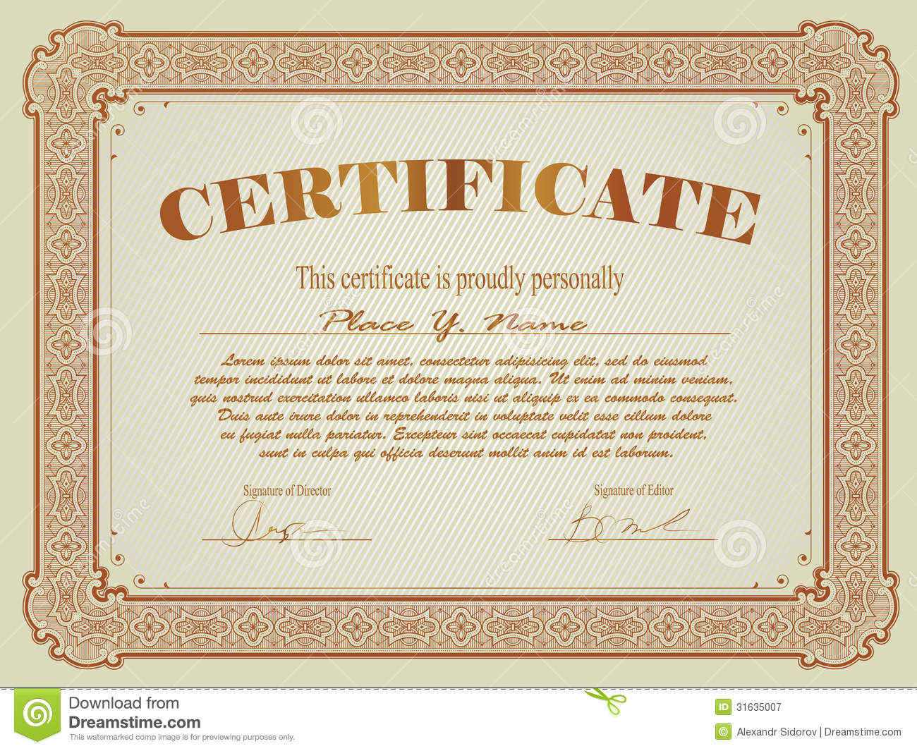 Certificate template stock vector image of market diploma 31635007 certificate template royalty free stock photo yadclub Choice Image