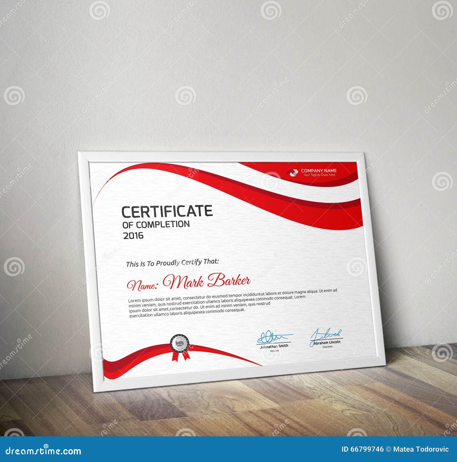 Certificate Stock Vector Illustration Of Elegant Diploma 66799746