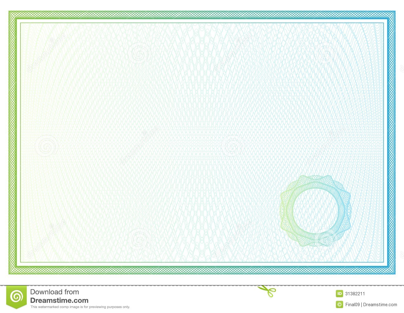 certificate  vector pattern for currency  diplomas stock vector