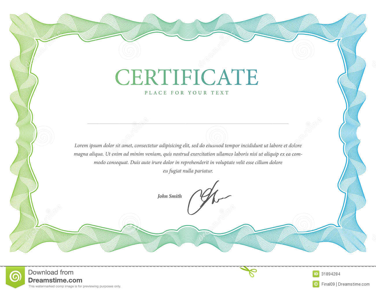 Certificate vector template stock vector illustration of retro certificate vector template yadclub Gallery