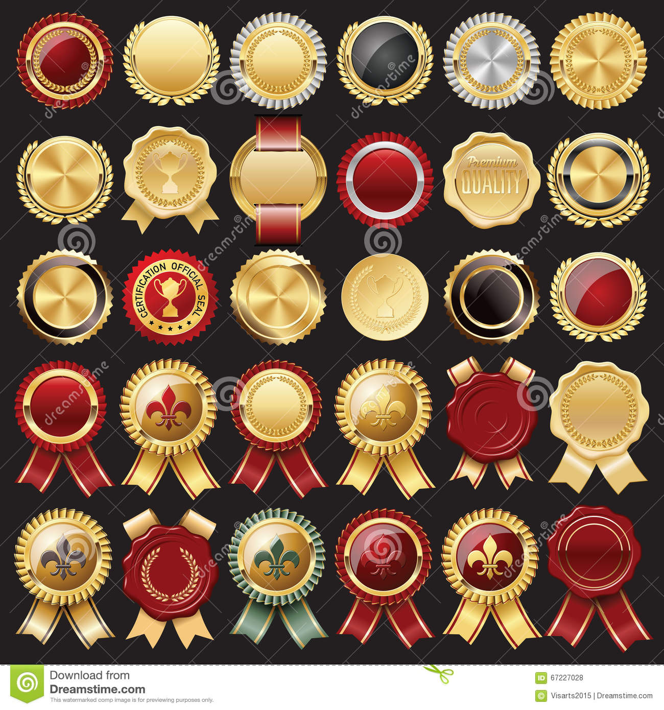 Certificate Wax Seal and Badges