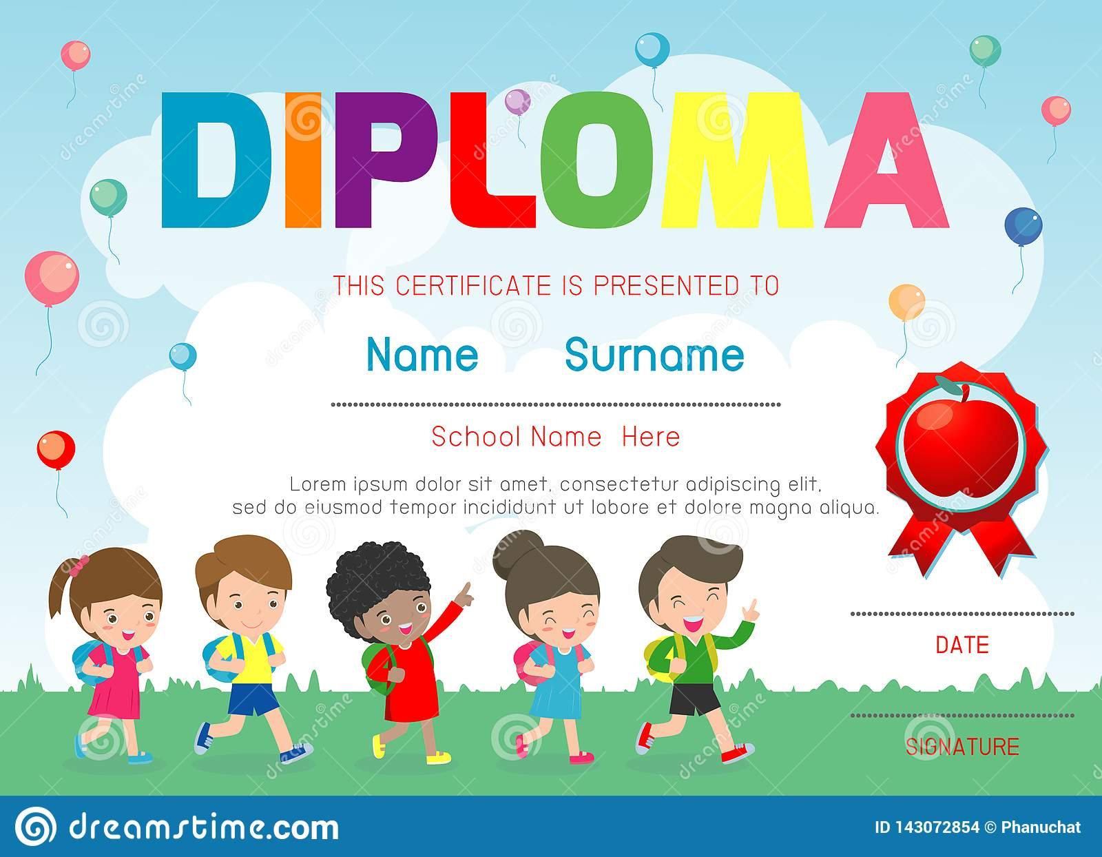 photo regarding Printable Certificates for Kids referred to as Certificates Kindergarten And Basic, Preschool Youngsters