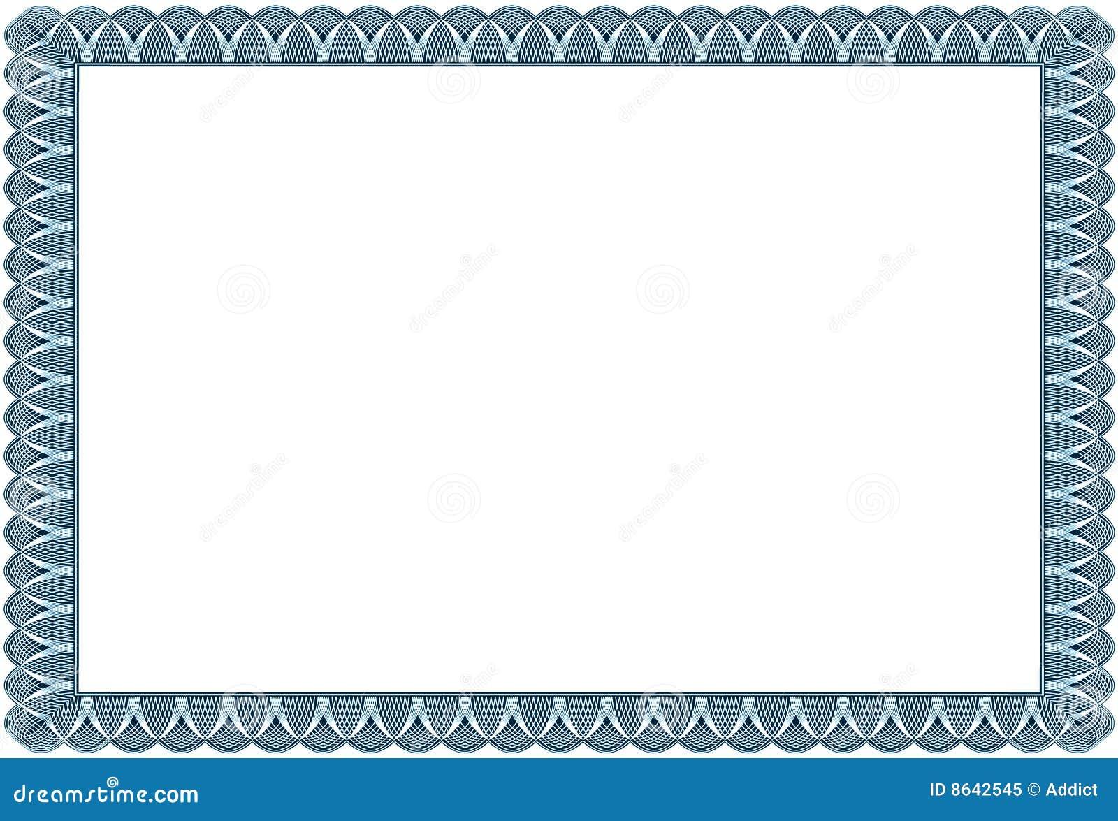Certification Border Royalty Free Stock Photo Image 8642545