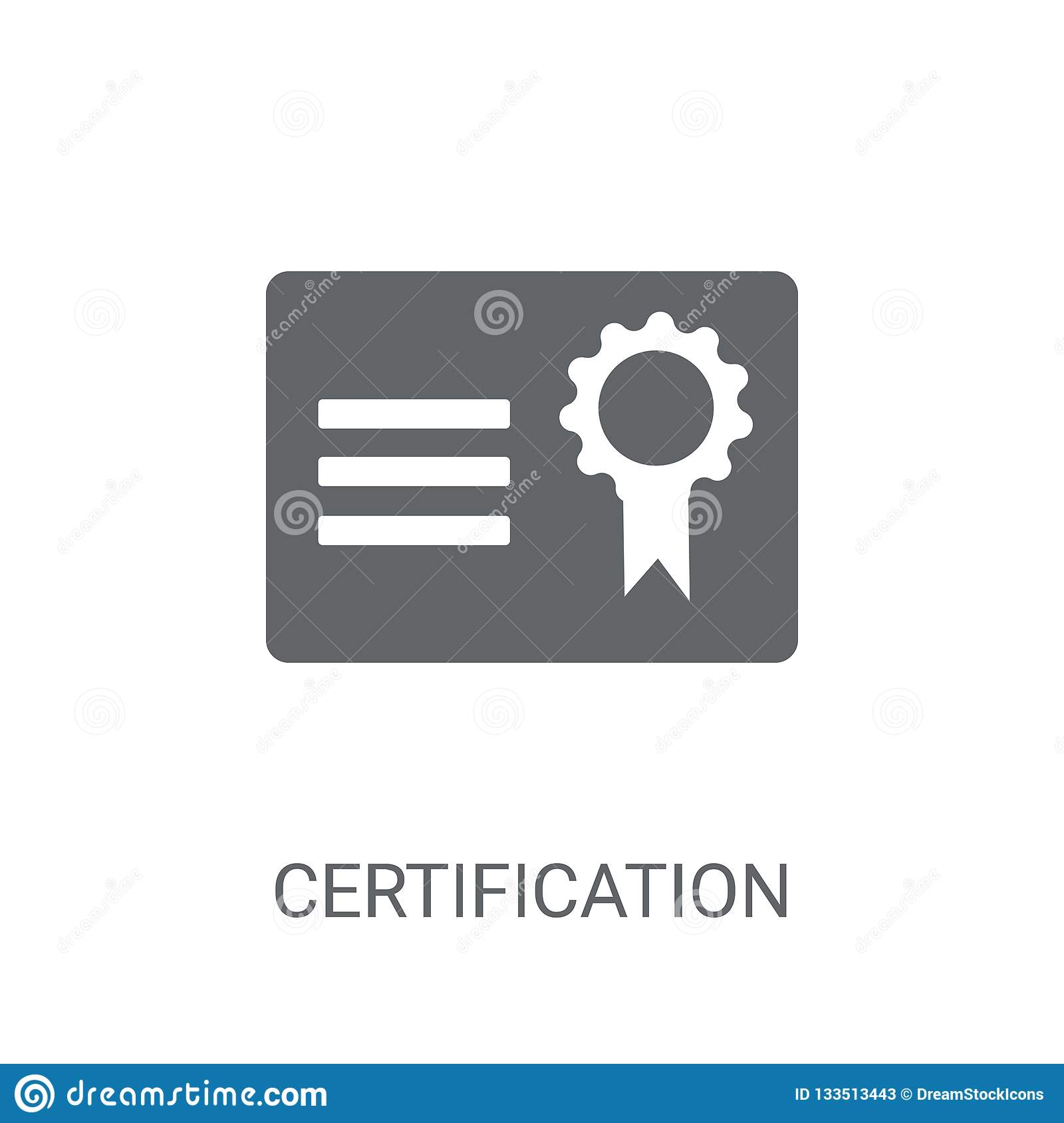 Certification icon. Trendy Certification logo concept on white b