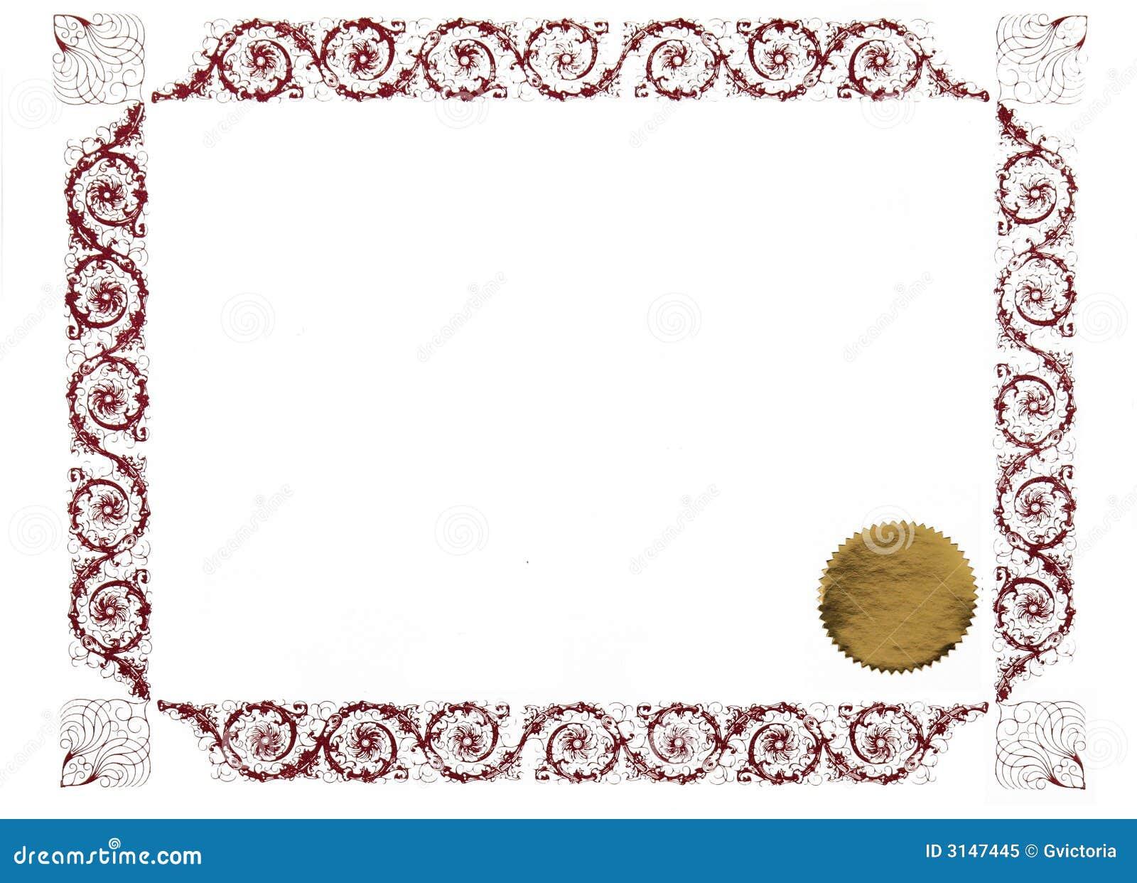 Certificato in bianco