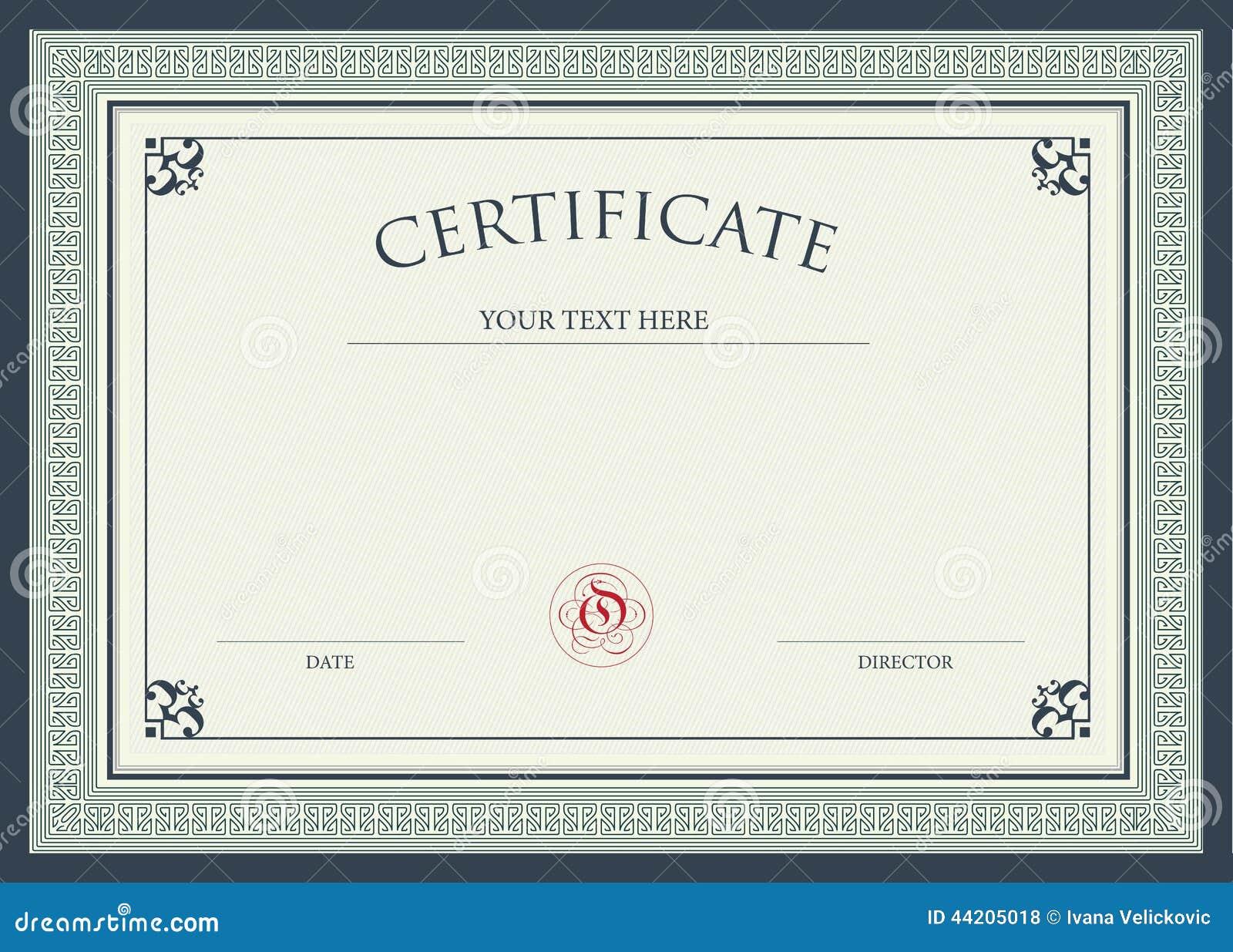Certificato del premio