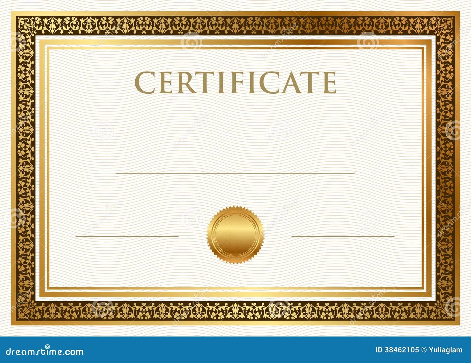 Certificato del risultato con la guarnizione della cera