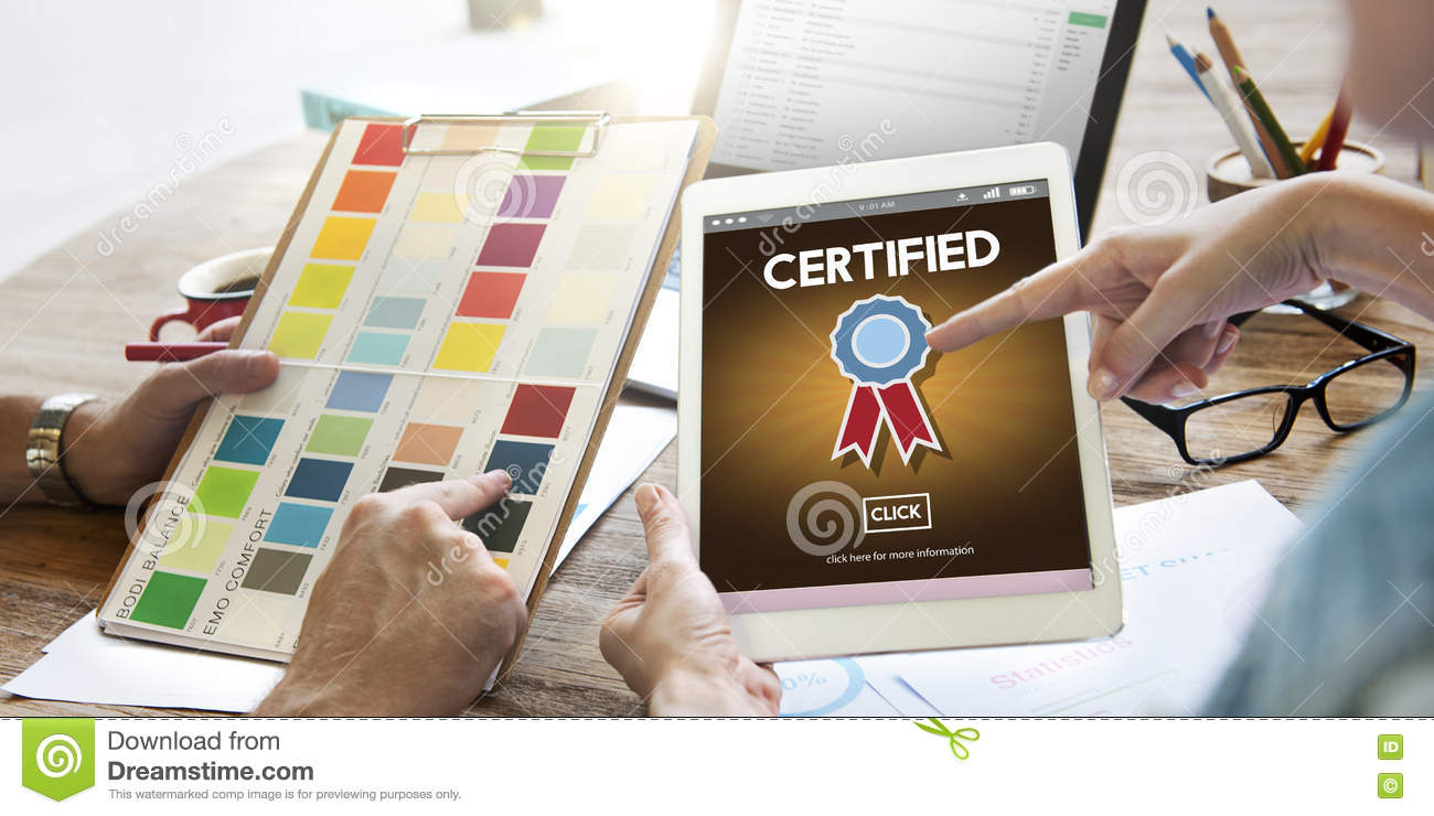 Certified Approval Agreement Confirmation Concept Stock Image