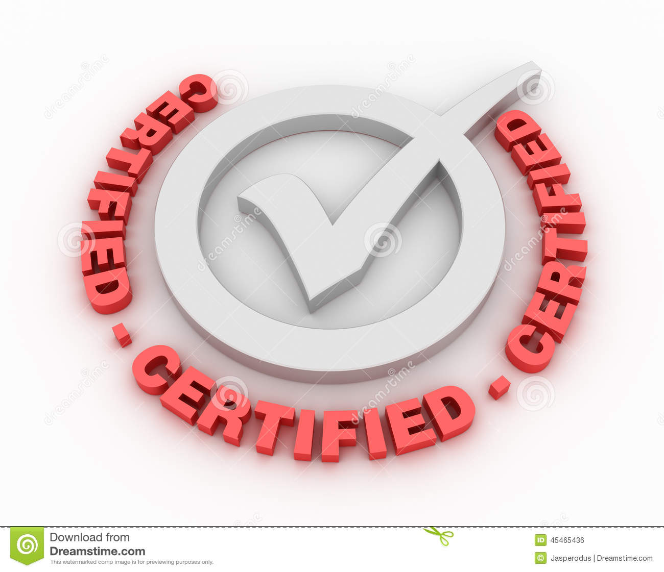 Certified Check Mark Stock Illustration Illustration Of Authentic