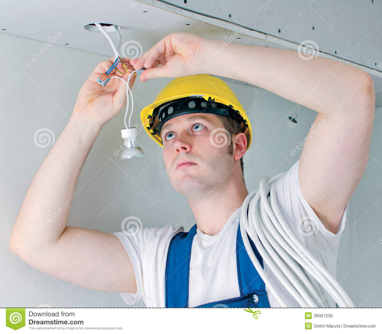 Certified Electrician Royalty Free Stock Image - Image: 36067236