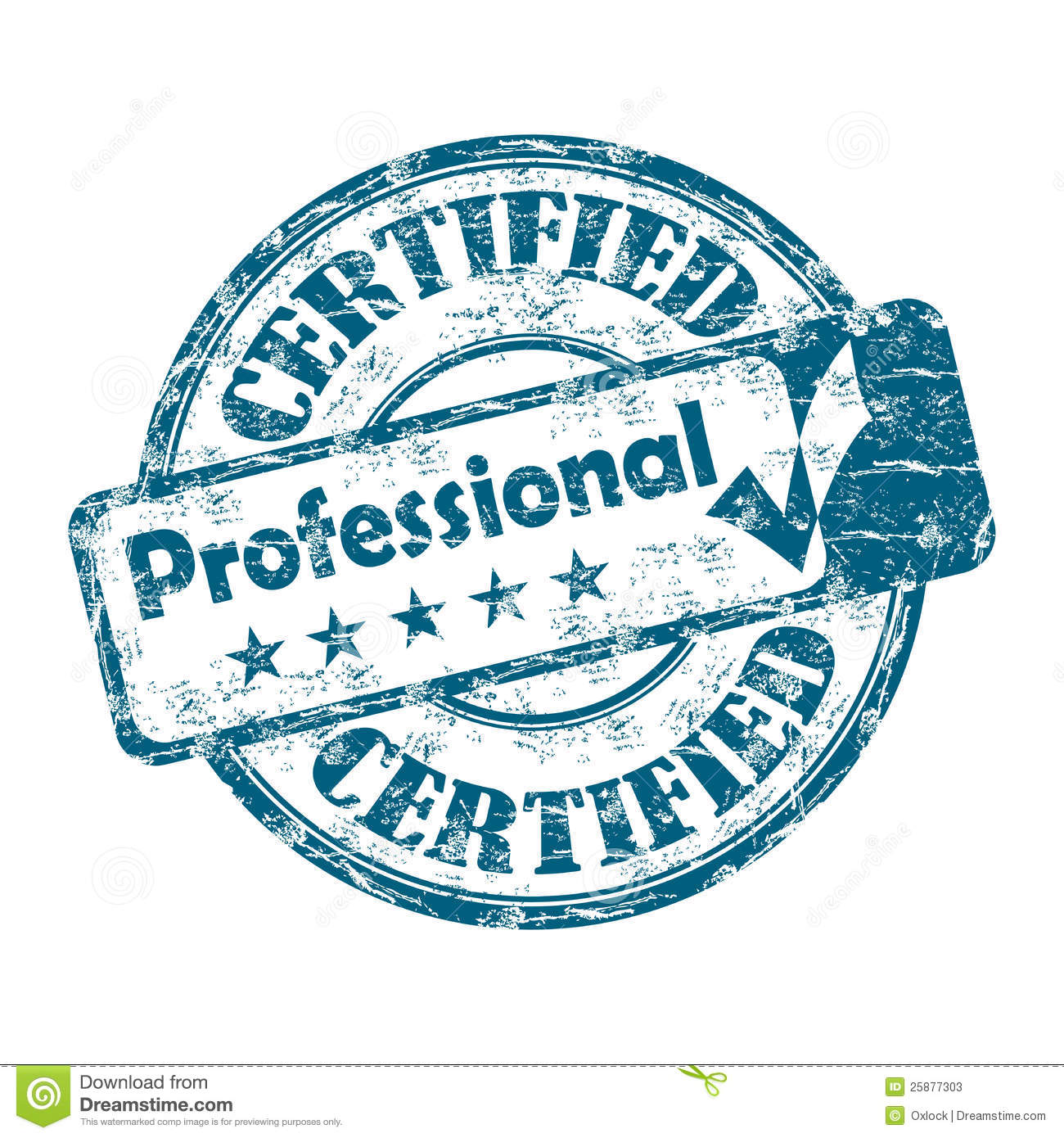 certified professional stamp stock photos image 25877303