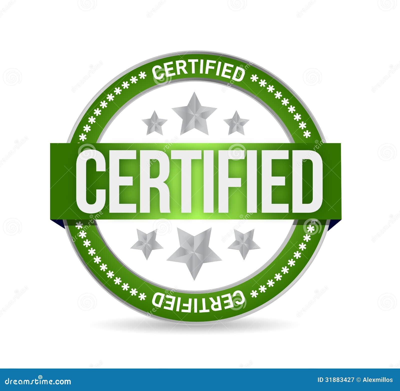 certified stamp seal illustration design stock