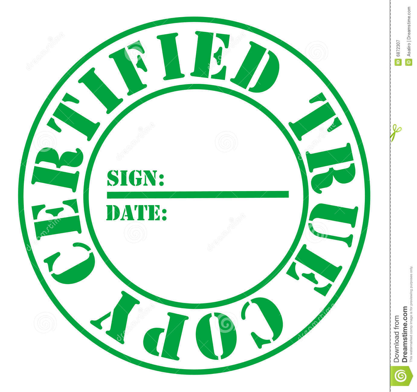 certified true copy red royalty free stock photo image 6873665