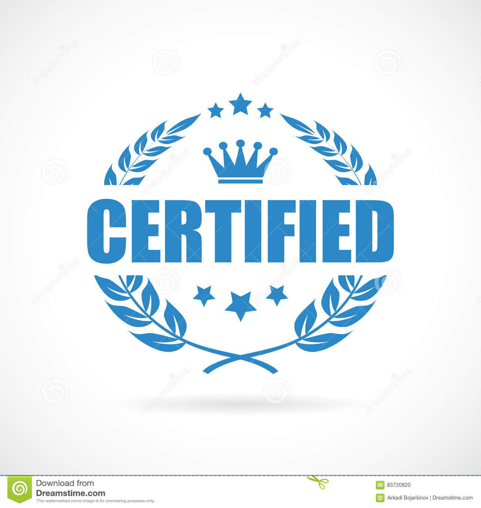 Certified Vector Icon Stock Vector