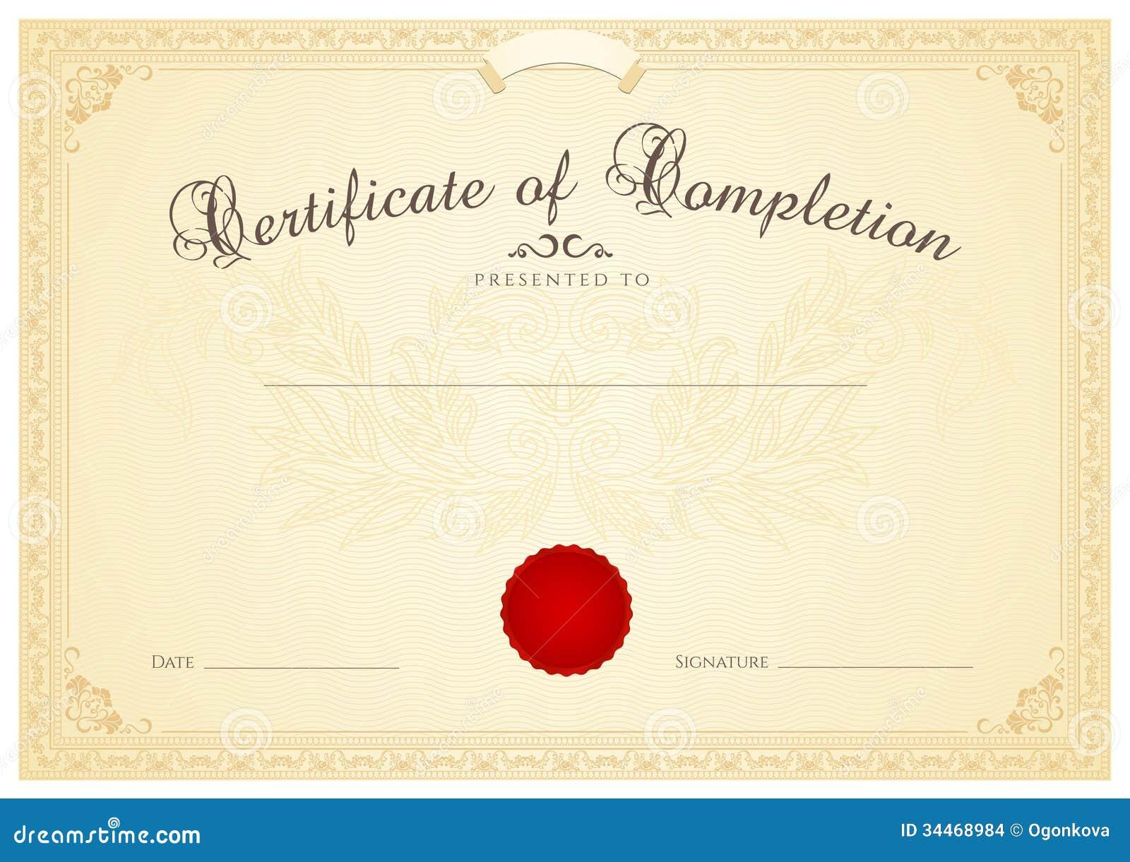 Certifikat-/diplombakgrundsmall. Blom-