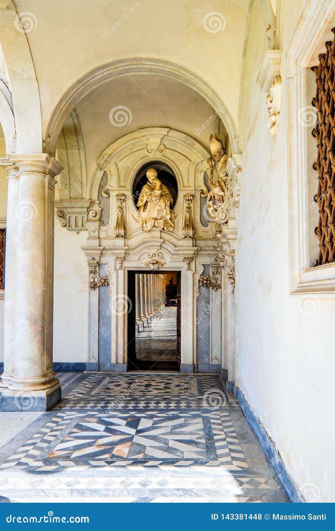 Beautiful Cloister Of San Martino Certosa Di San Martino Or Chartreuse Of Saint Martin In Springtime Naples Italy Editorial Stock Photo Image Of Nature Horizontal 143381448