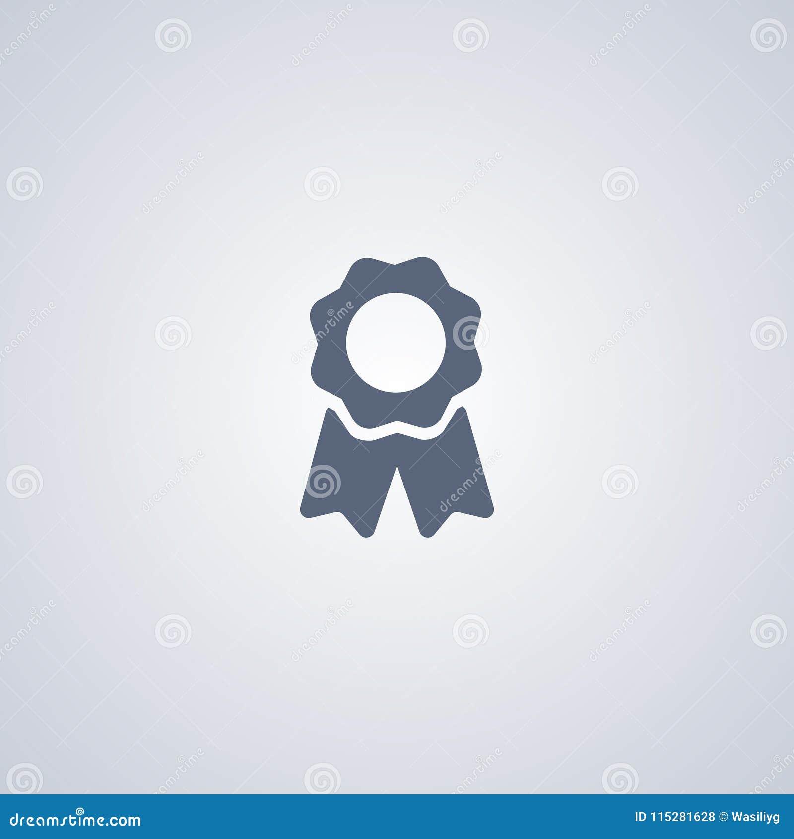 Certyfikat, osiągnięcie, wektorowa najlepszy płaska ikona