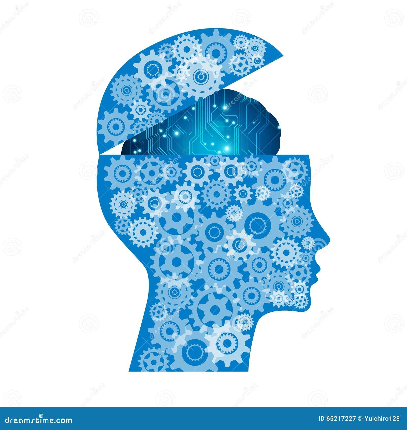 Cerveau électronique abstrait de carte, concept d intelligence artificielle d AI