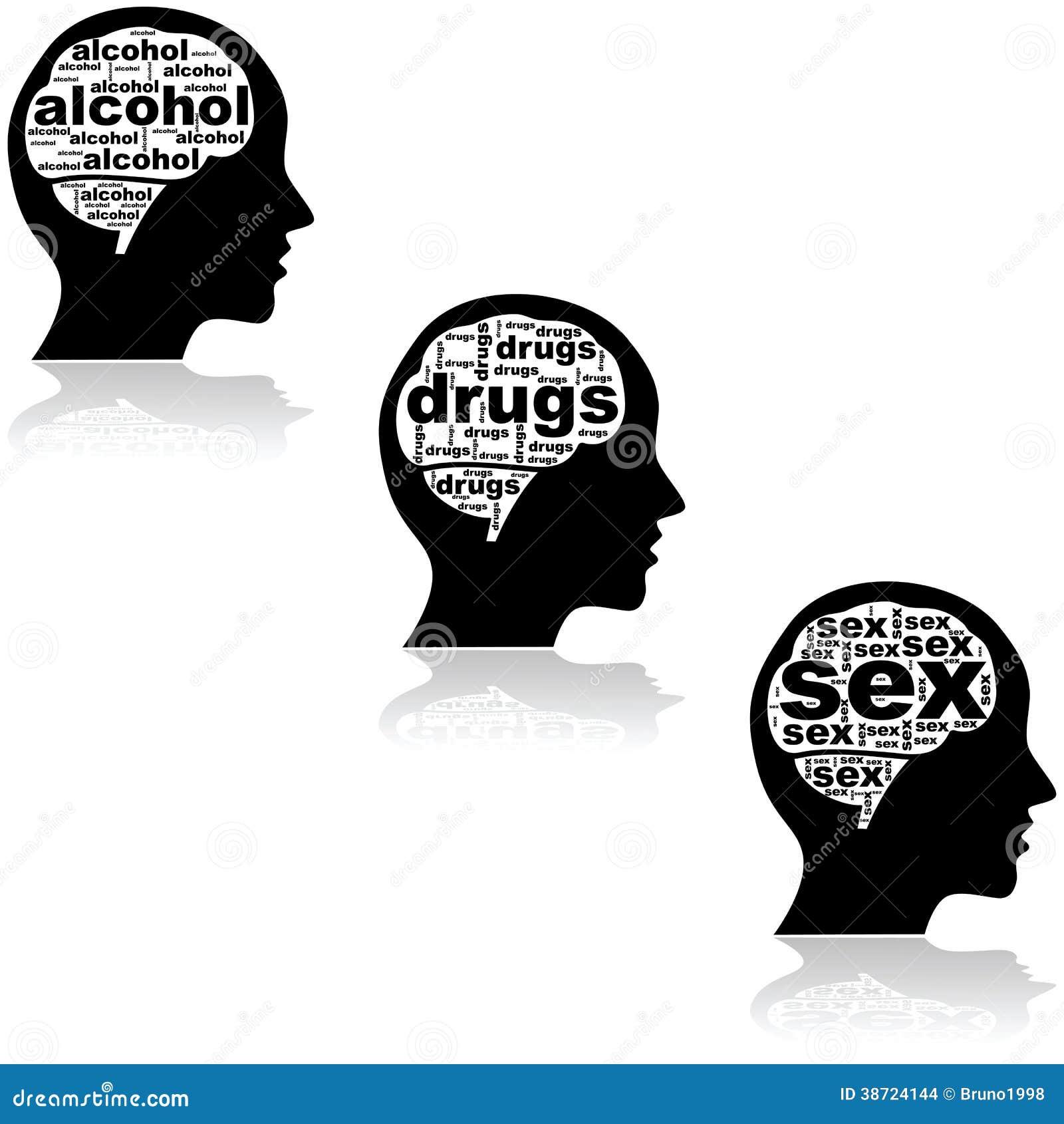Cerveau D'un Intoxiqué Images stock - Image: 38724144