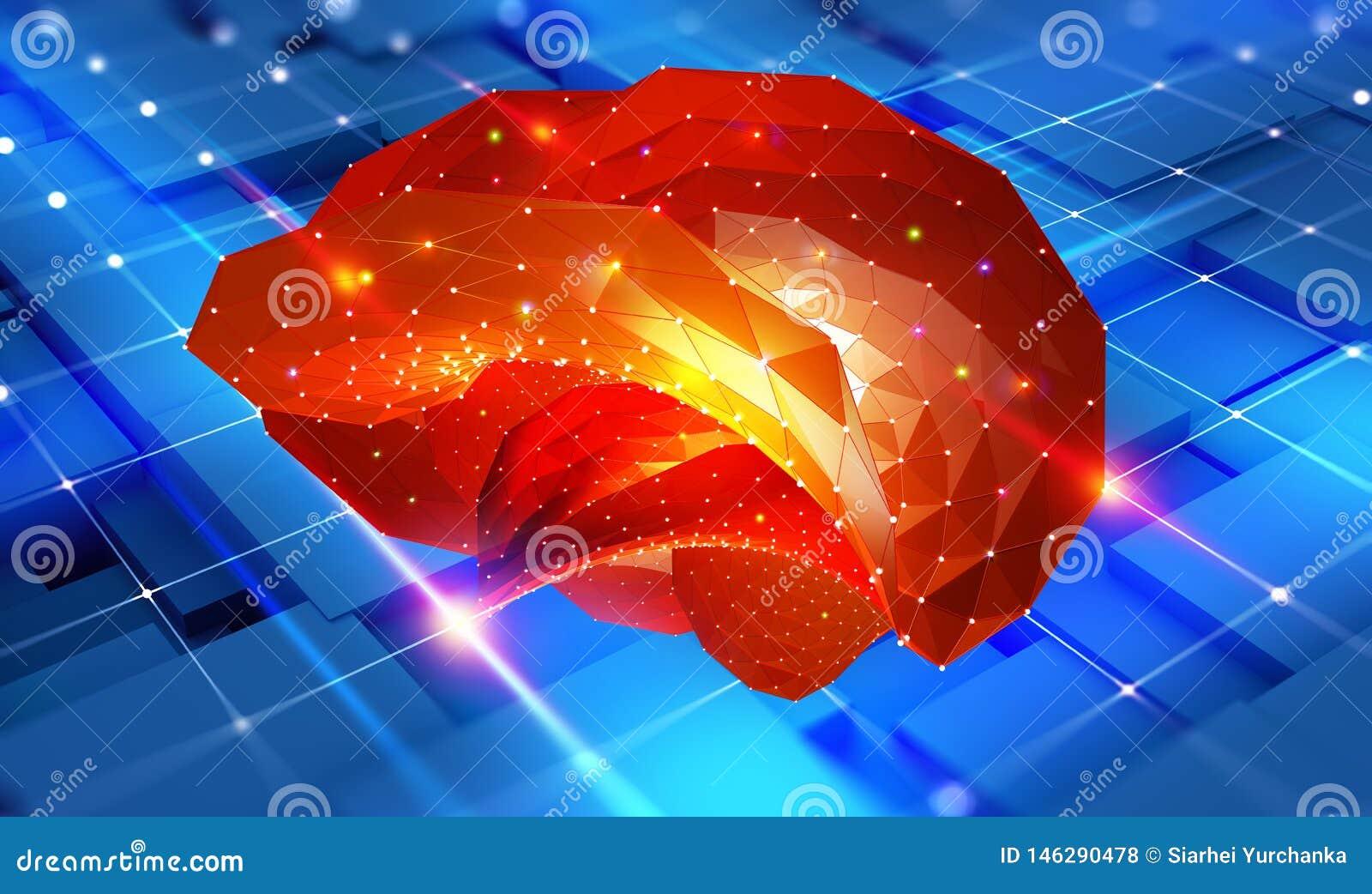 Cerveau Esprit de Cyber et r?seaux neurologiques de Digital