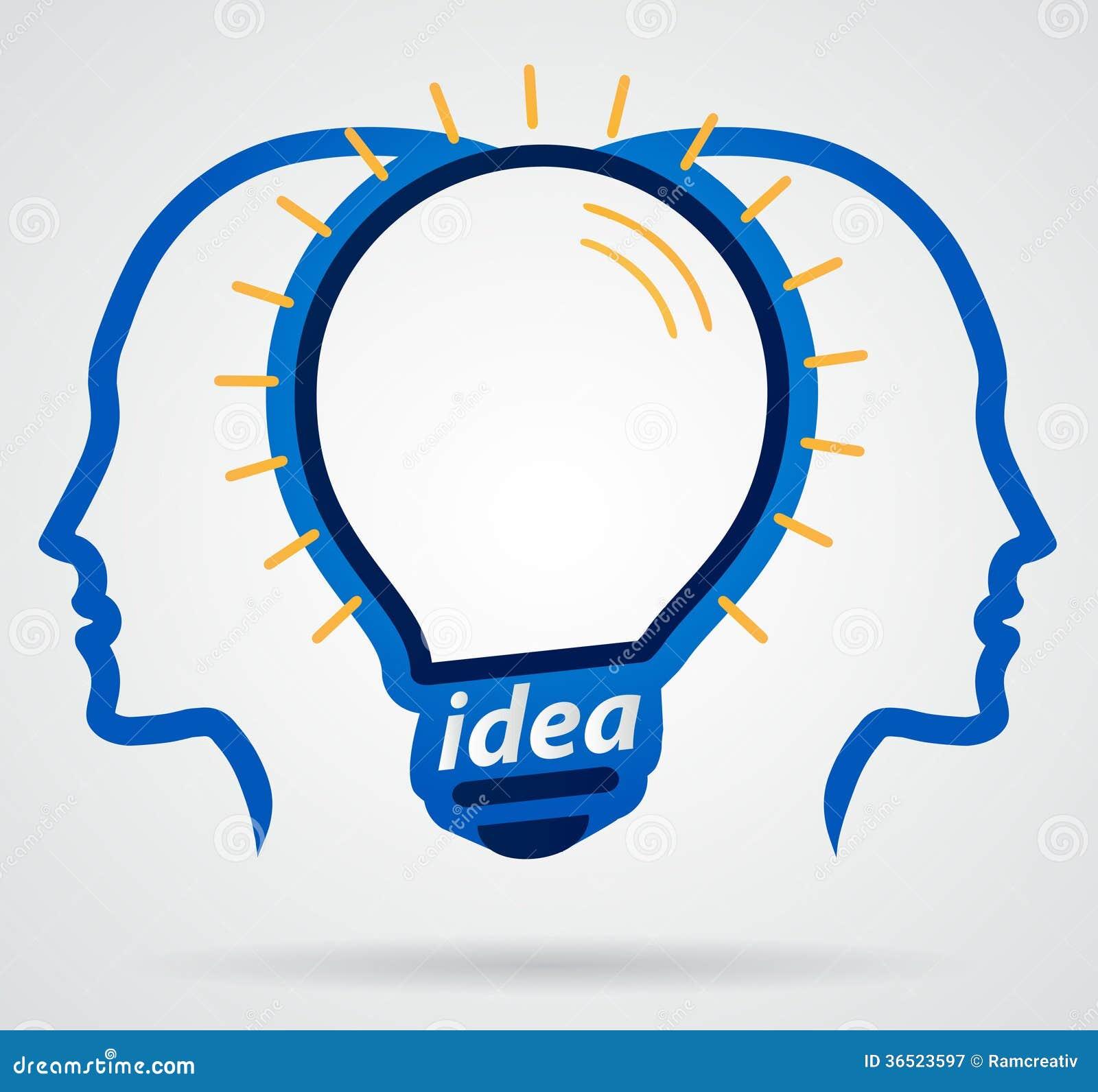Cerveau illuminating de pensée de lampe principale, unité de Th