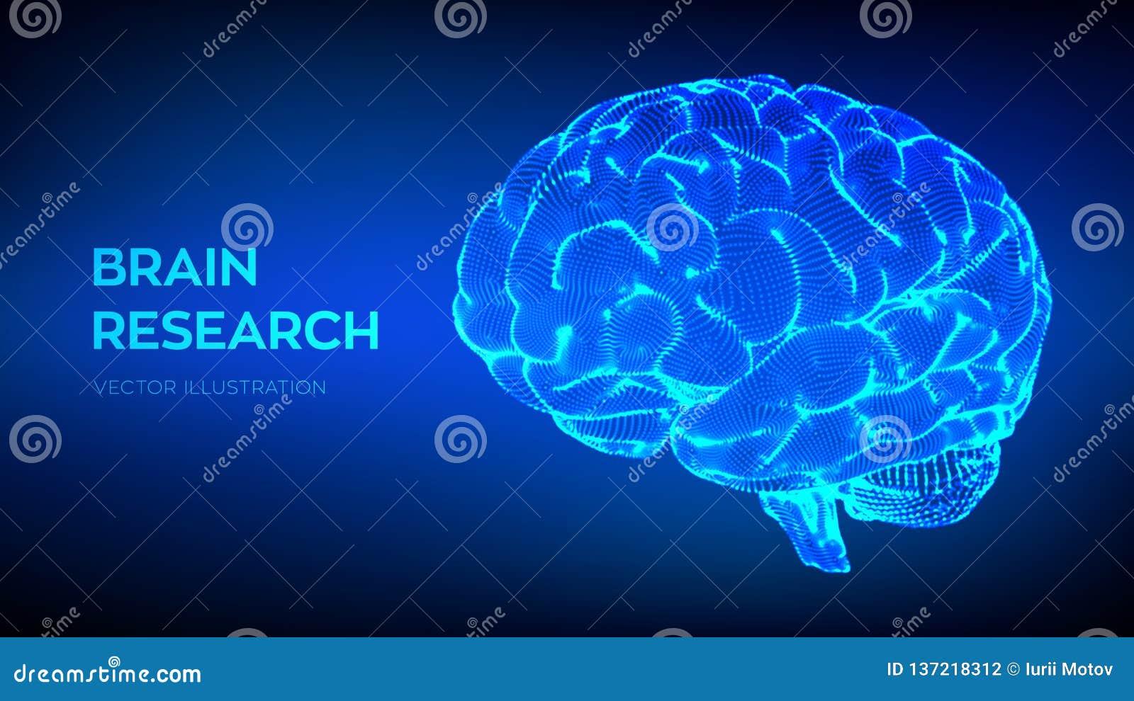 Cerveau Recherche de cerveau humain concept de la science et technologie 3D Réseau neurologique QI examinant, intelligence artifi
