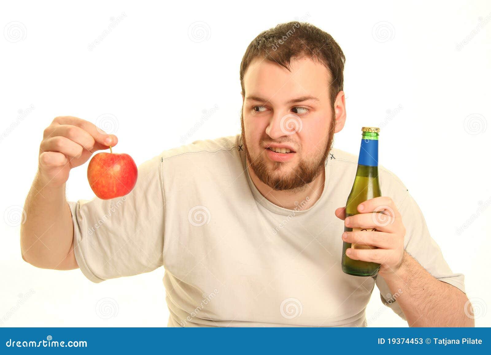 Cerveja e maçã