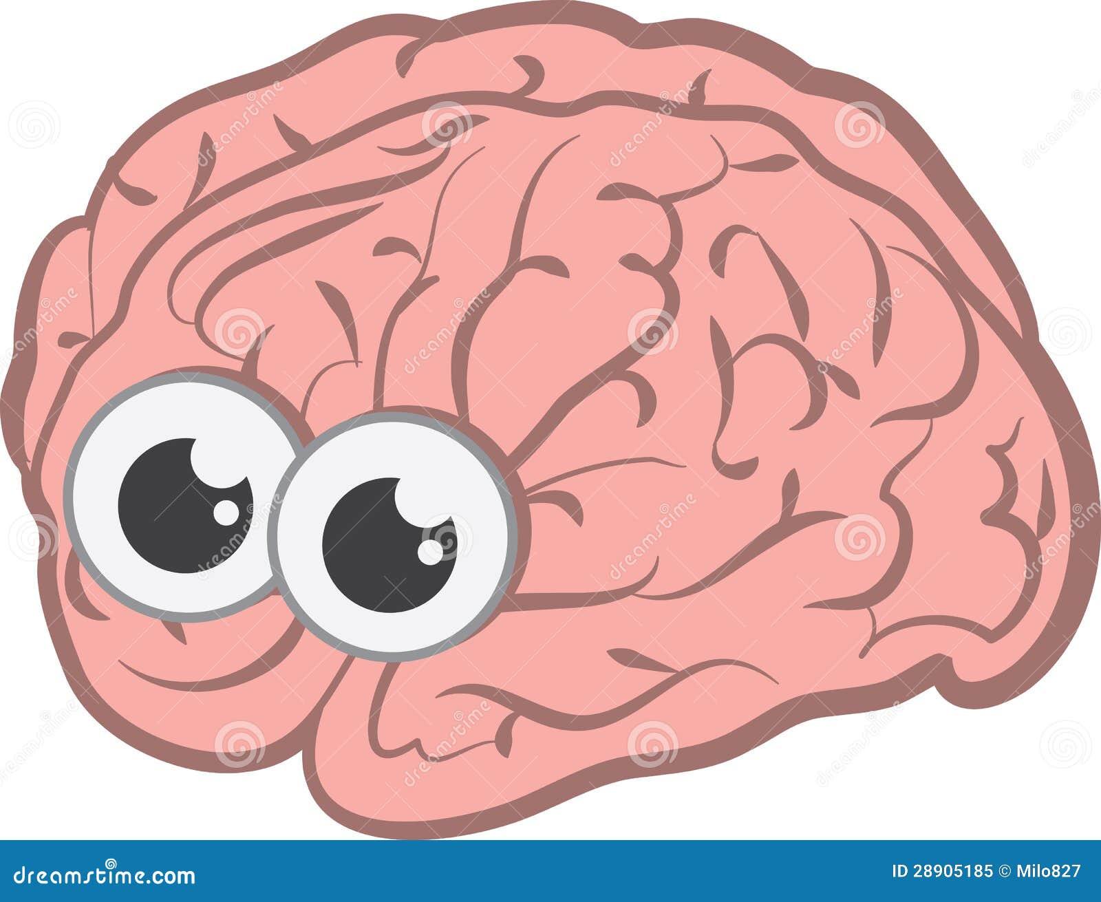 Cervello con gli occhi